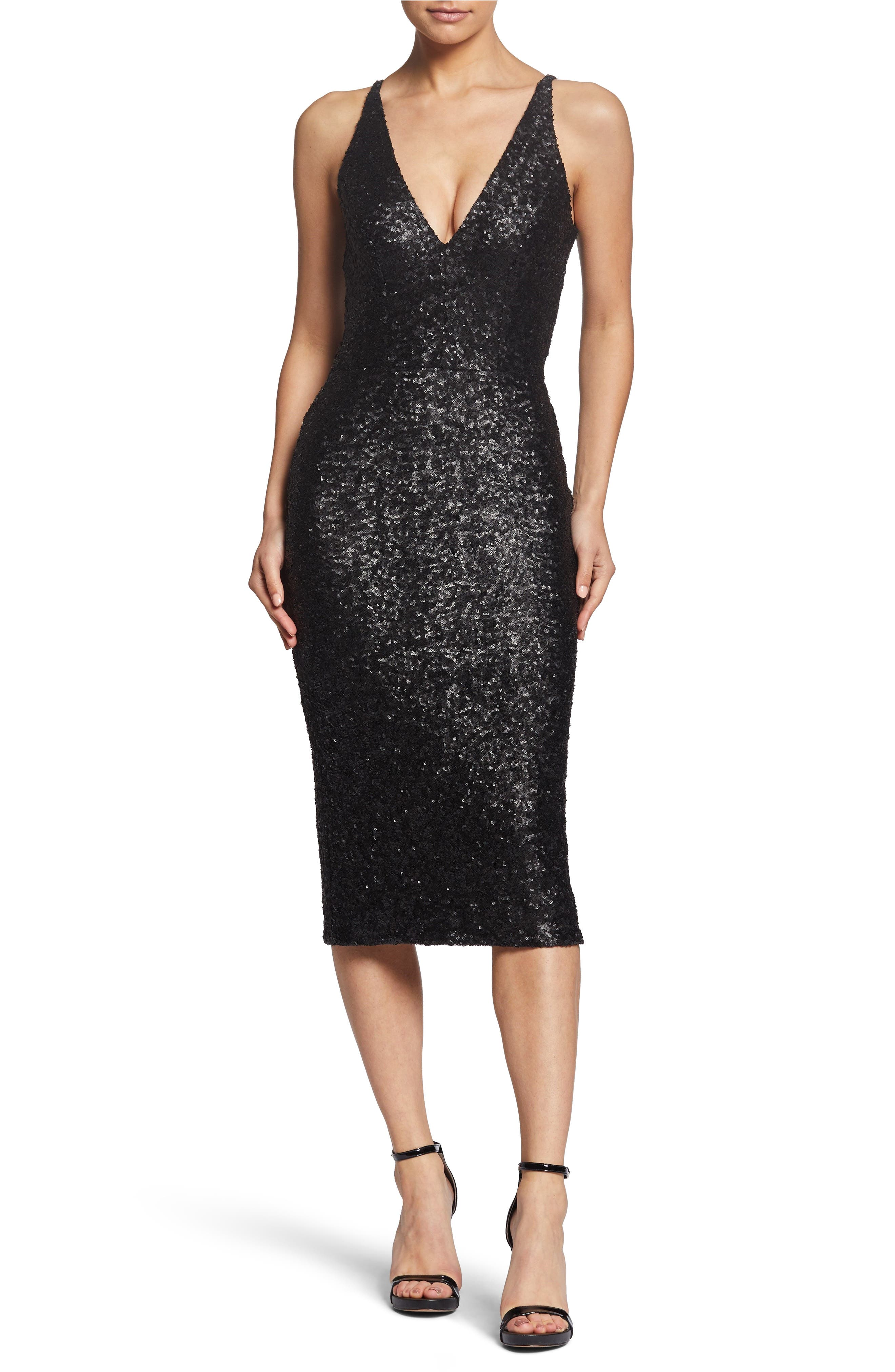 Camilla Plunging Sequin Sheath Dress, Main, color, 008