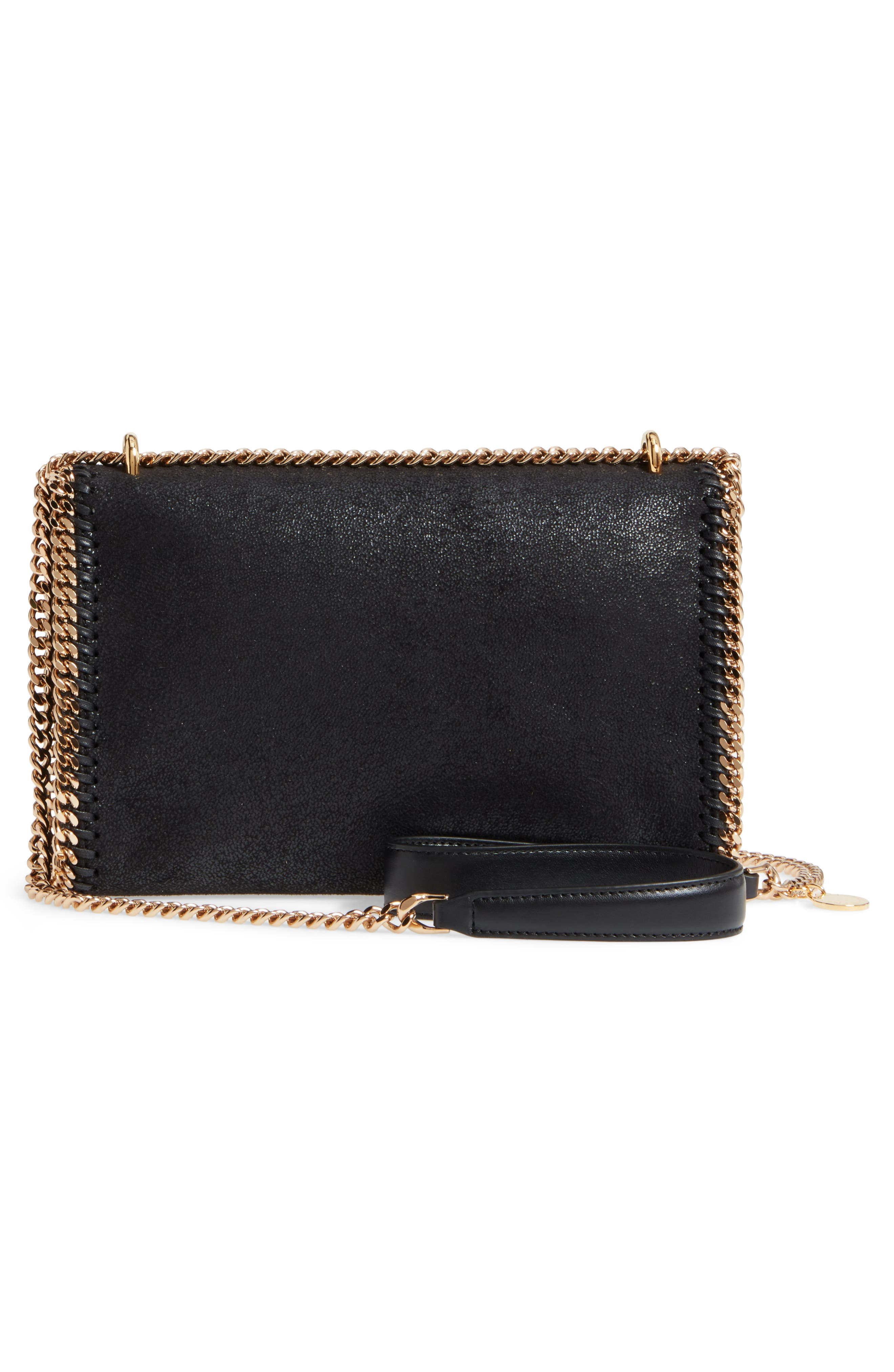 Falabella Shaggy Deer Faux Leather Shoulder Bag,                             Alternate thumbnail 3, color,                             BLACK