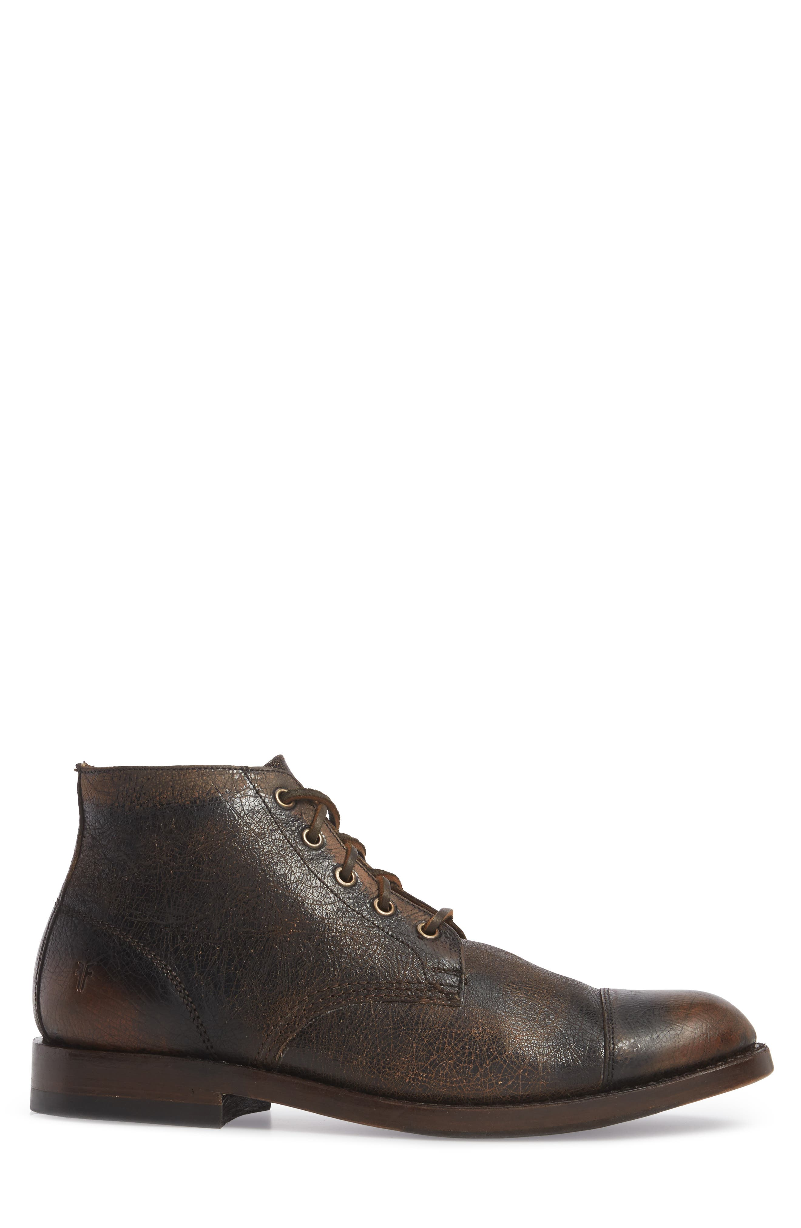 Will Chukka Boot,                             Alternate thumbnail 3, color,                             DARK BROWN LEATHER