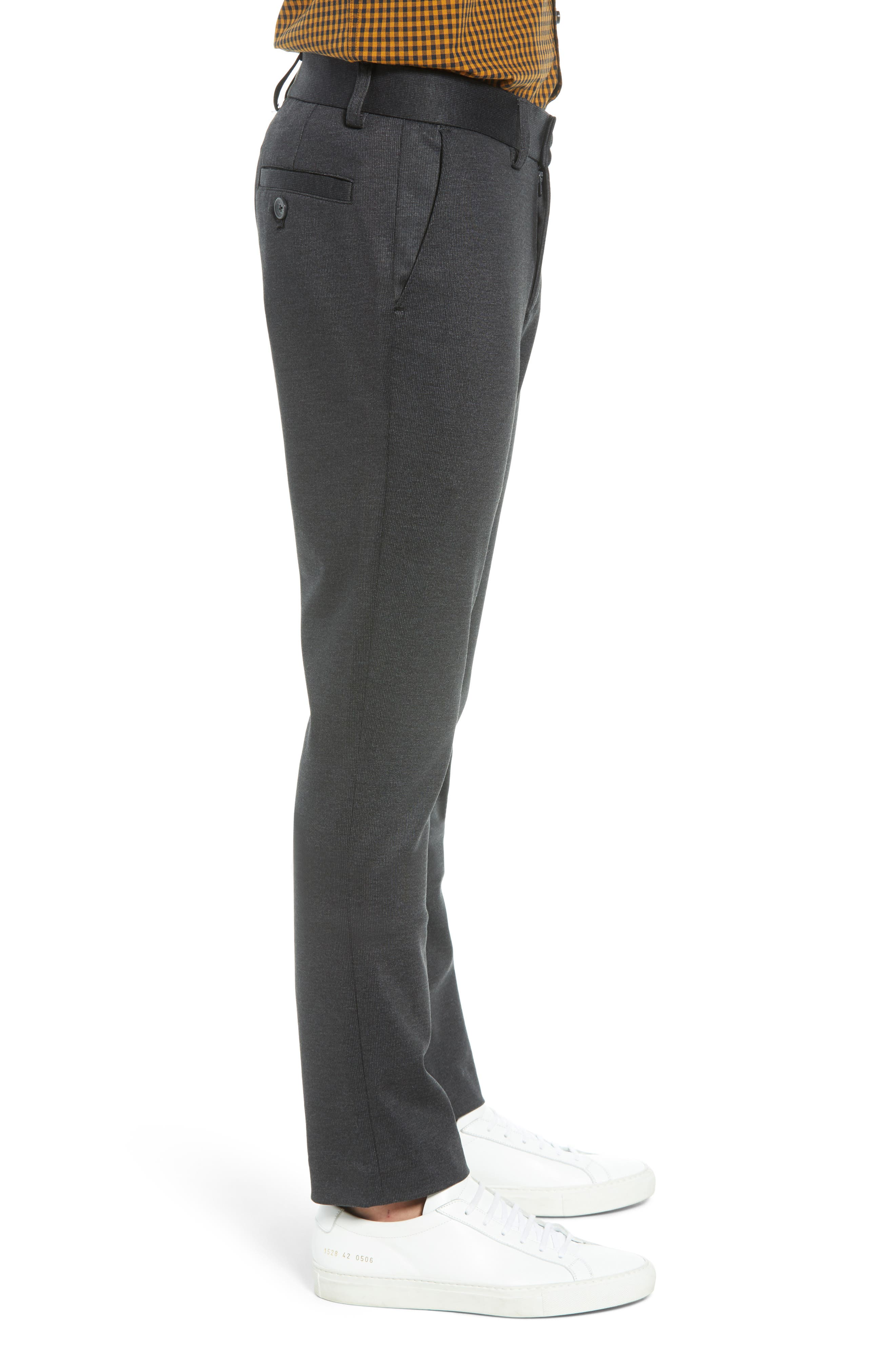 Slim Fit Ponte Knit Trousers,                             Alternate thumbnail 3, color,                             020