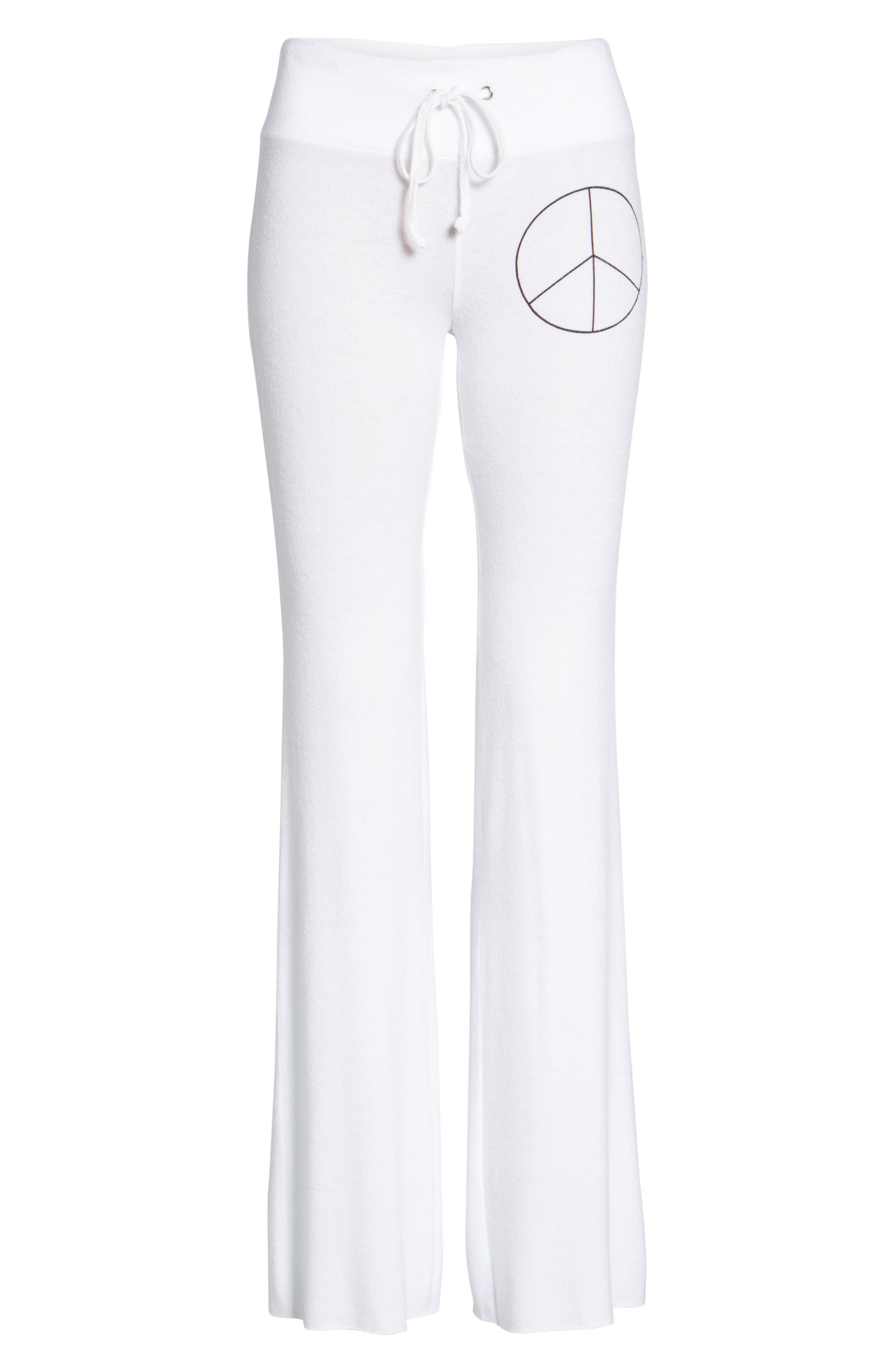 Peace Track Pants,                             Alternate thumbnail 6, color,                             100