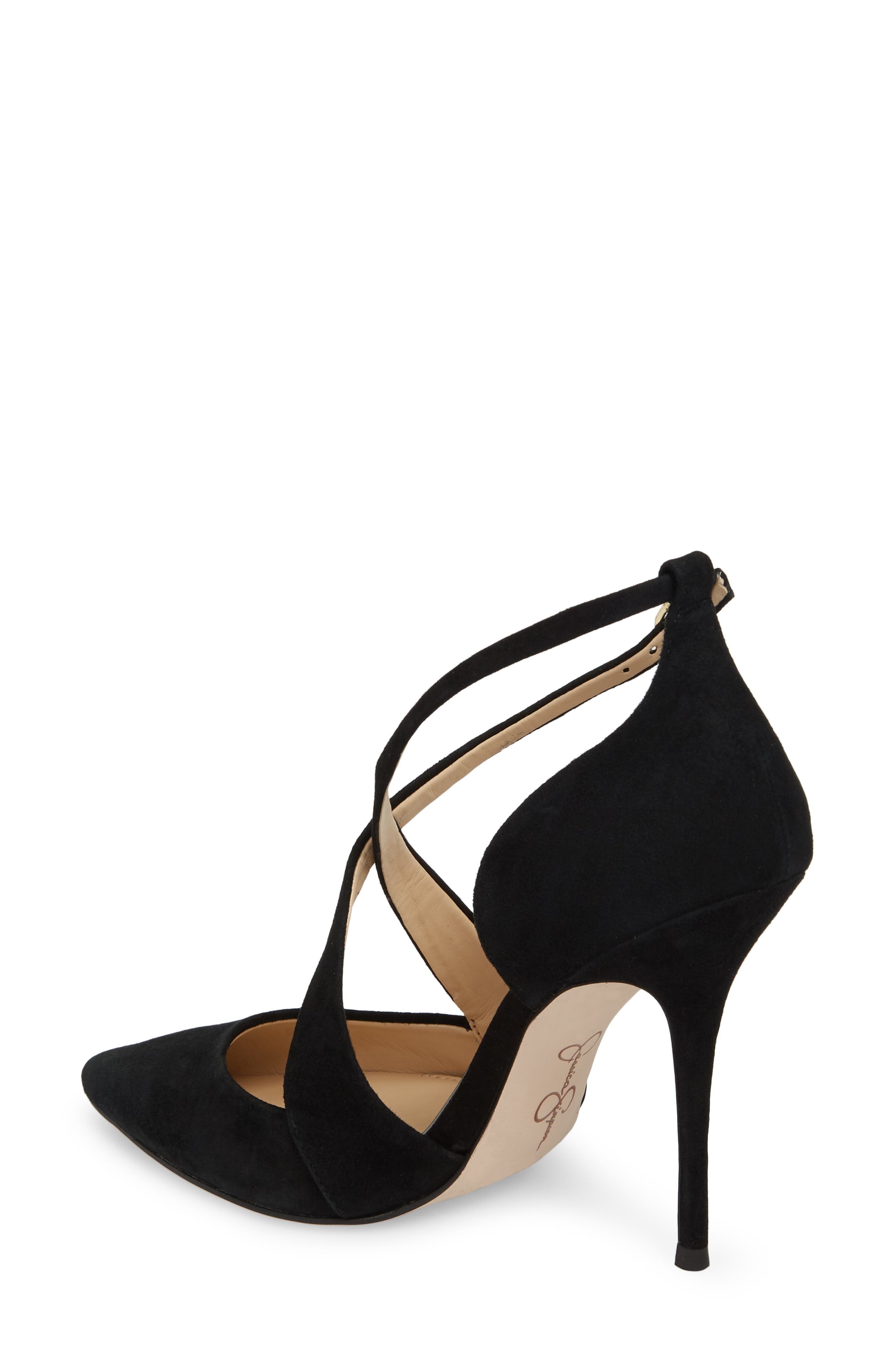 Wixen Cross Strap Pump,                             Alternate thumbnail 2, color,                             BLACK