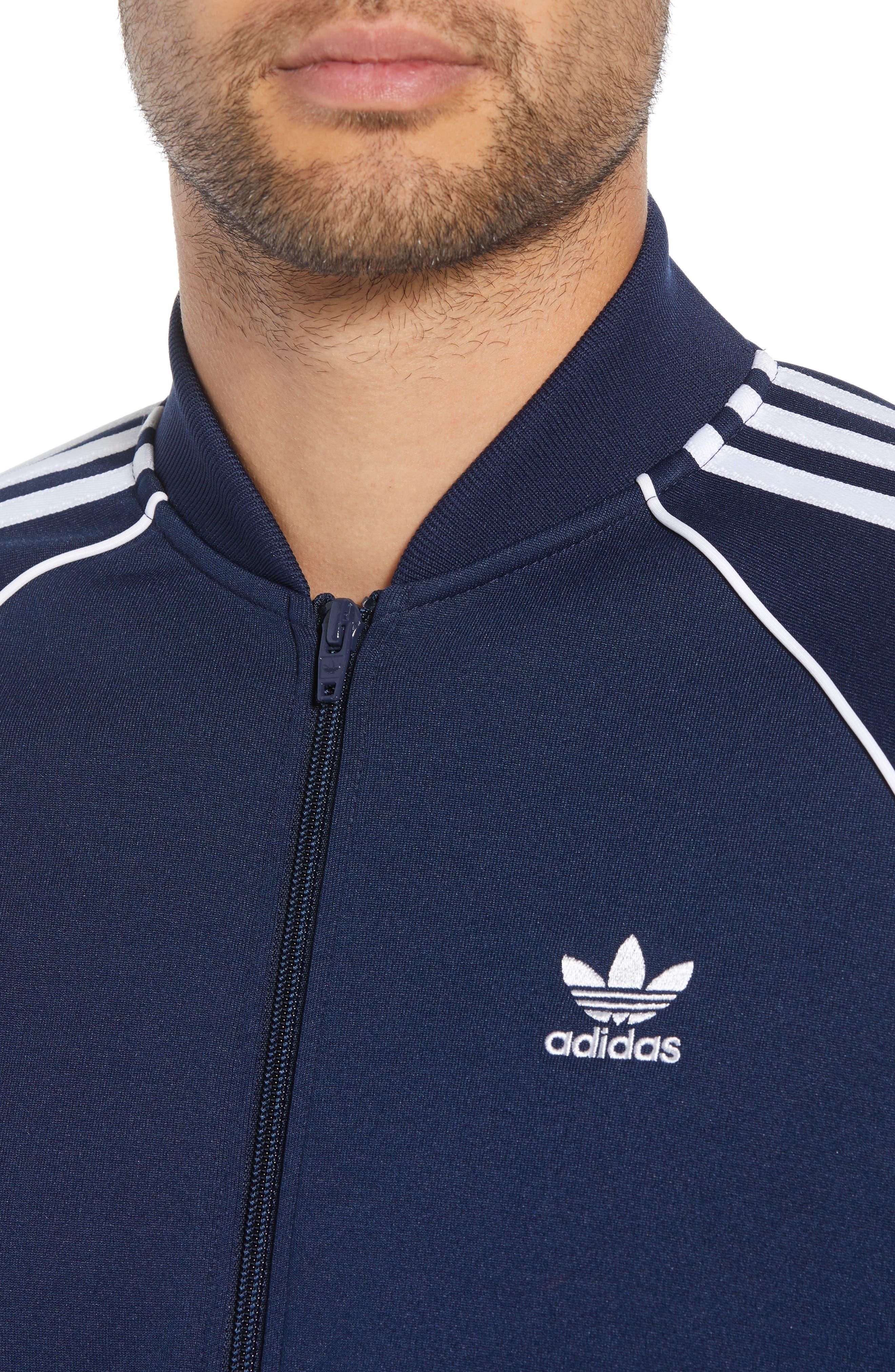 adidas SST Track Jacket,                             Alternate thumbnail 4, color,                             COLLEGIATE NAVY