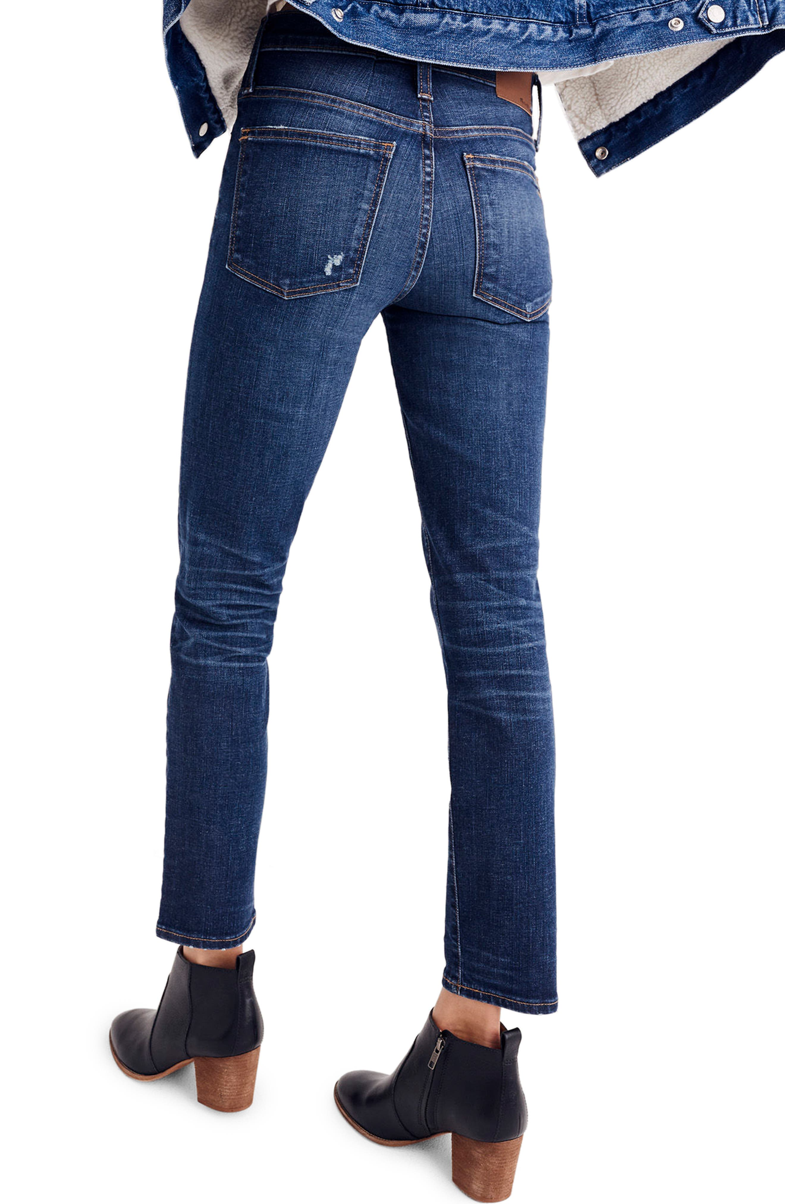 High Waist Slim Straight Leg Jeans,                             Alternate thumbnail 2, color,                             400