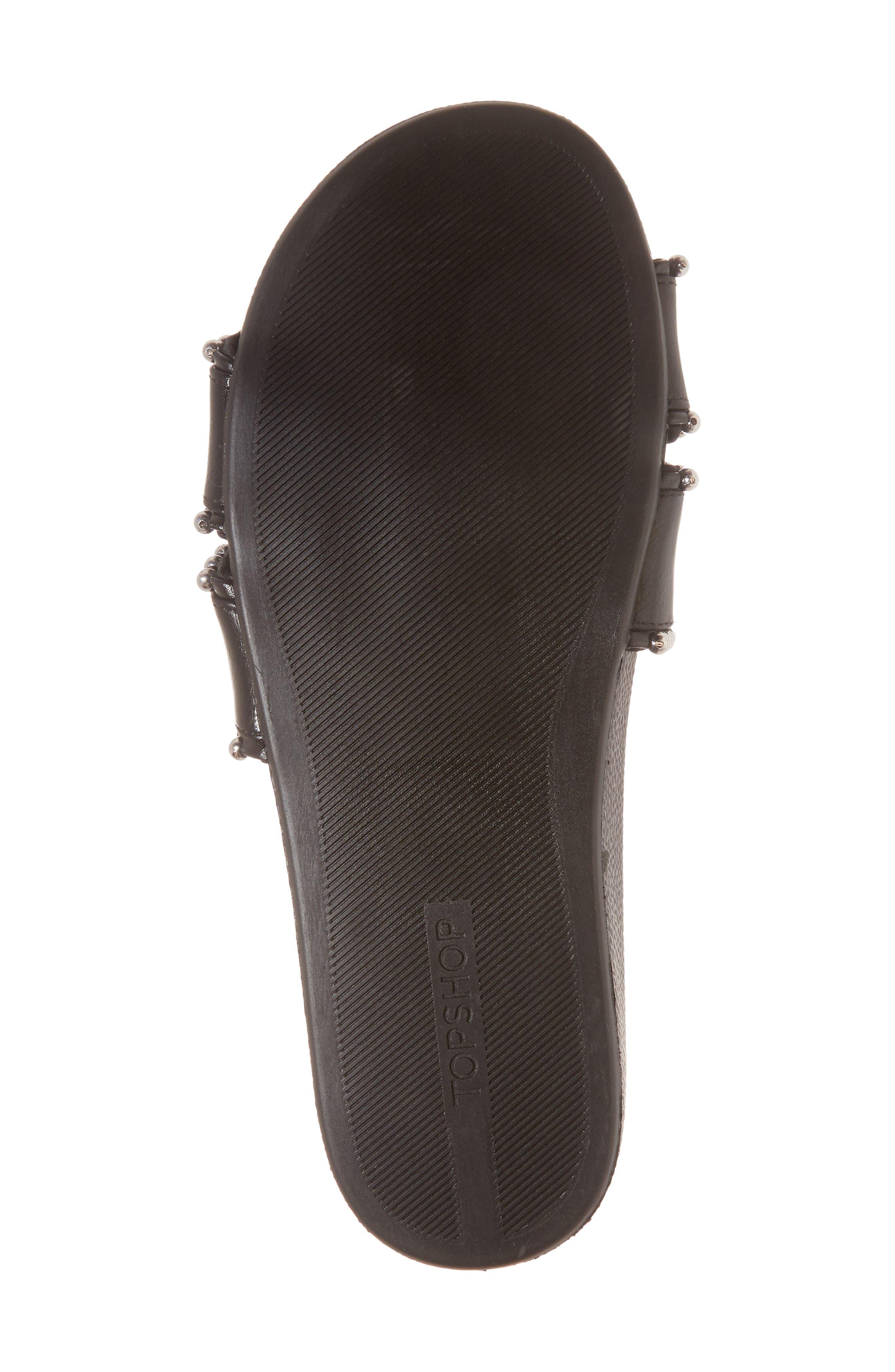 Rascal Studded Slide Sandal,                             Alternate thumbnail 6, color,                             001