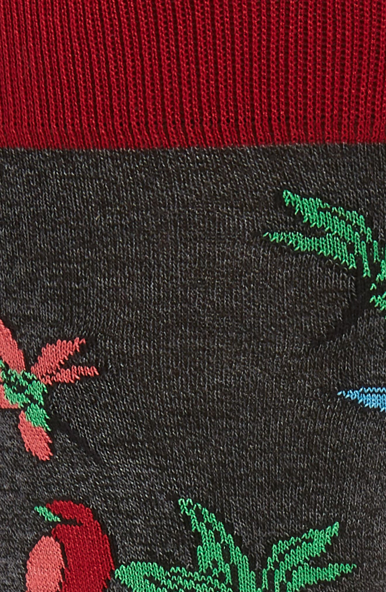 Floral Socks,                             Alternate thumbnail 2, color,                             CHARCOAL