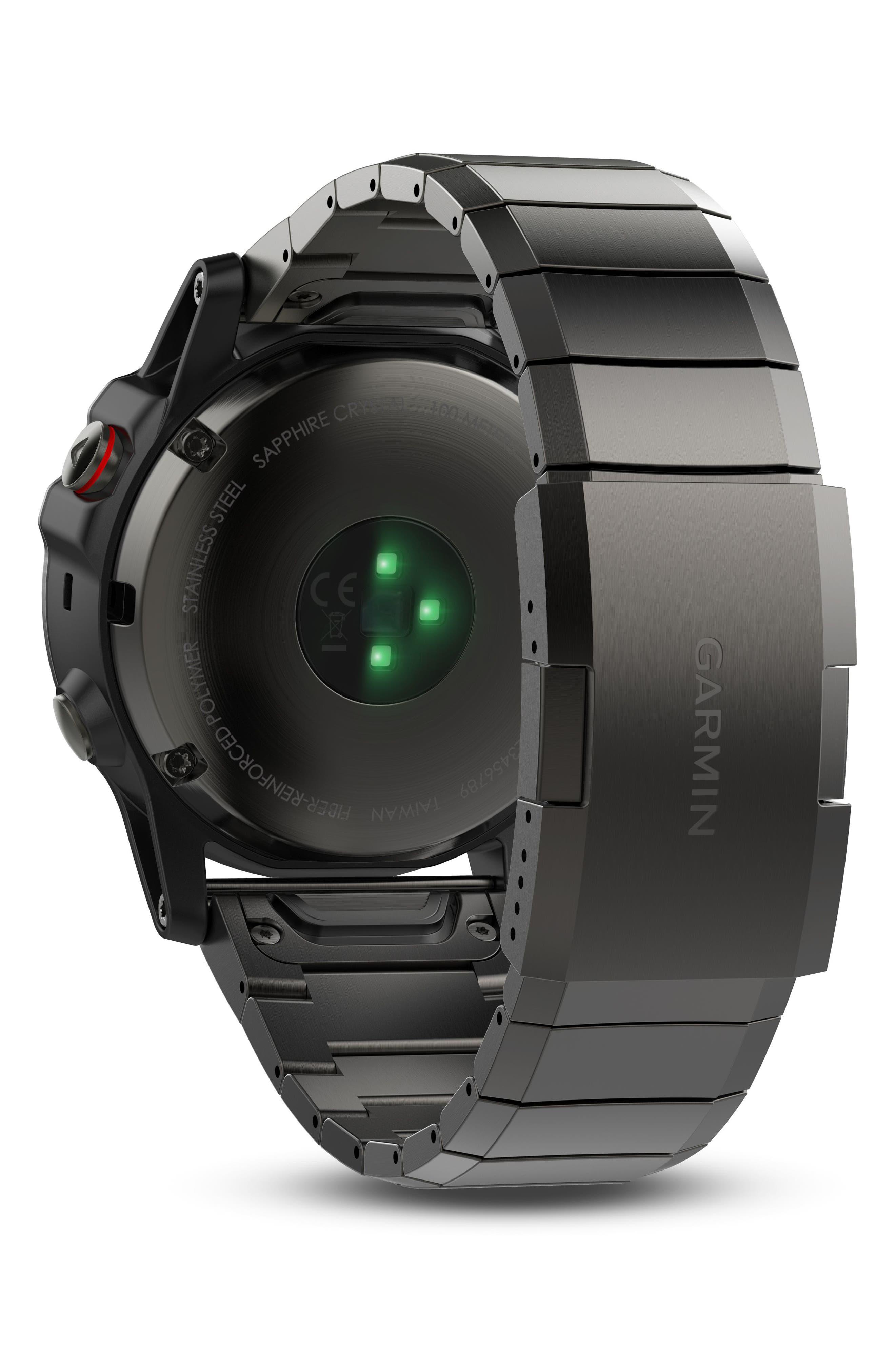 fenix<sup>®</sup> 5X Sapphire Premium Multisport GPS Watch, 51mm,                             Alternate thumbnail 2, color,                             GUNMETAL/ SLATE GRAY SAPPHIRE
