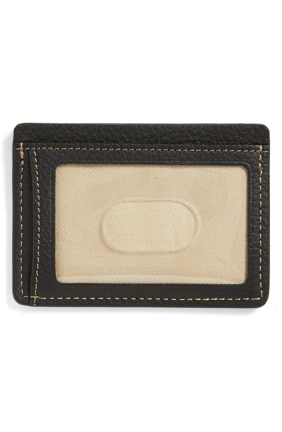 'Jackson' Norwegian Elk Leather Card Case,                             Alternate thumbnail 2, color,                             BLACK NORWEGIAN ELK