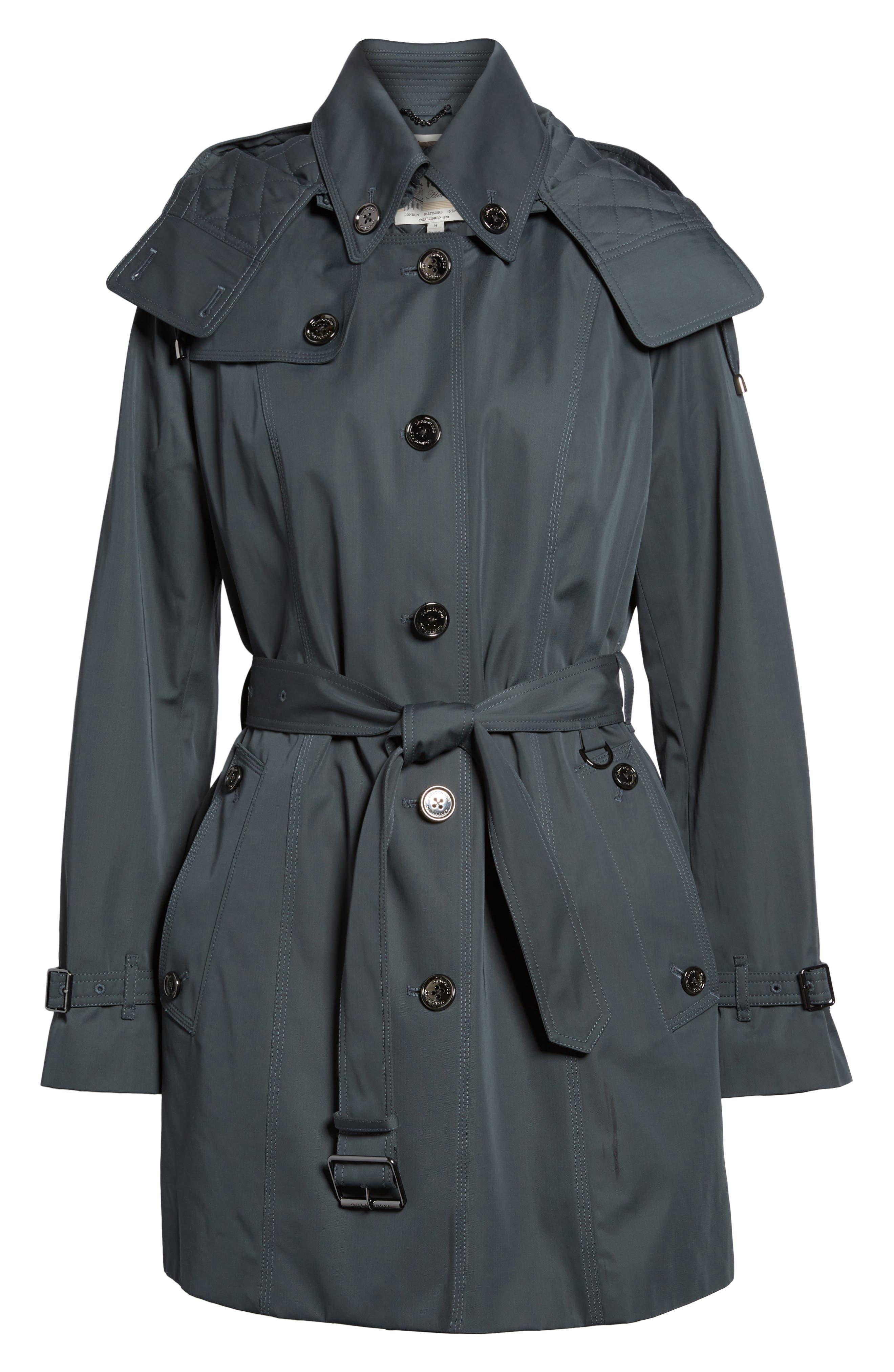 Short Trench Coat,                             Alternate thumbnail 10, color,