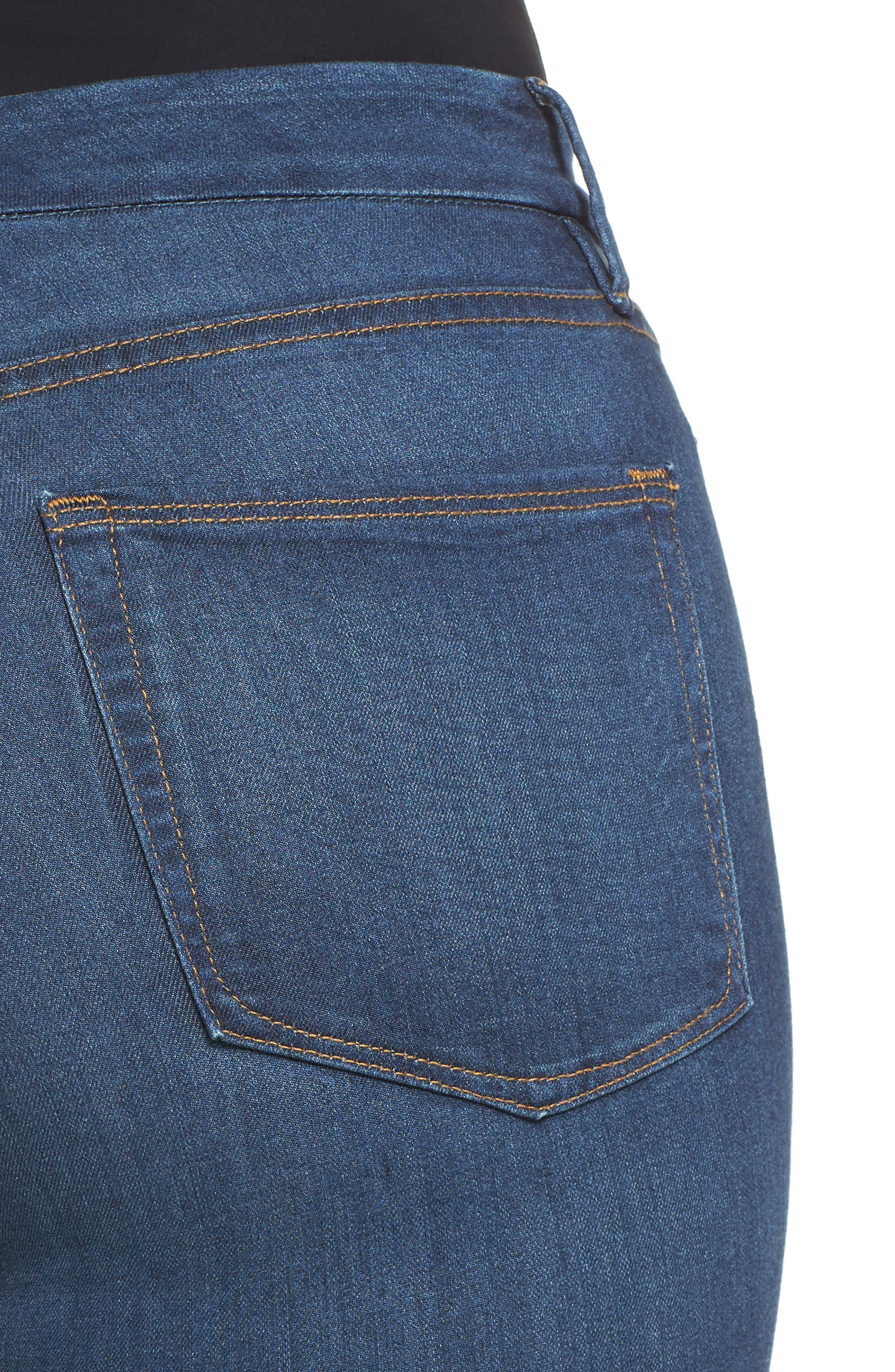 Good Waist High Rise Skinny Jeans,                             Alternate thumbnail 4, color,                             BLUE013