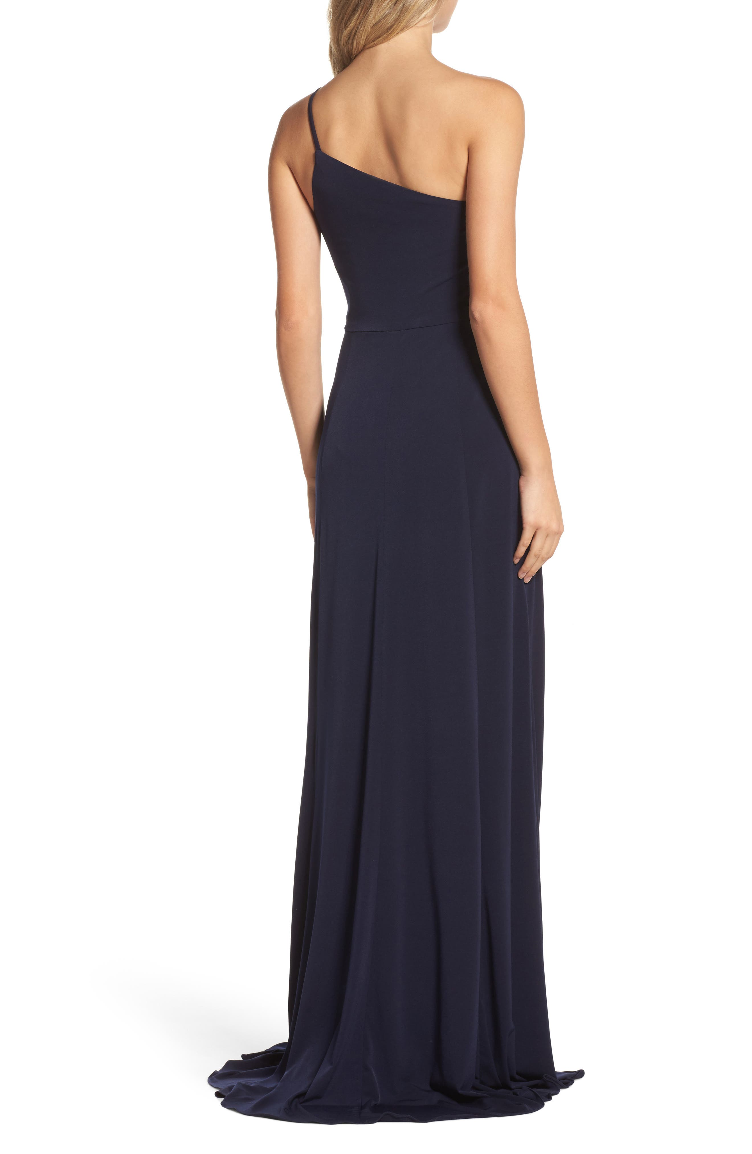 Jersey One-Shoulder Gown,                             Alternate thumbnail 2, color,                             410