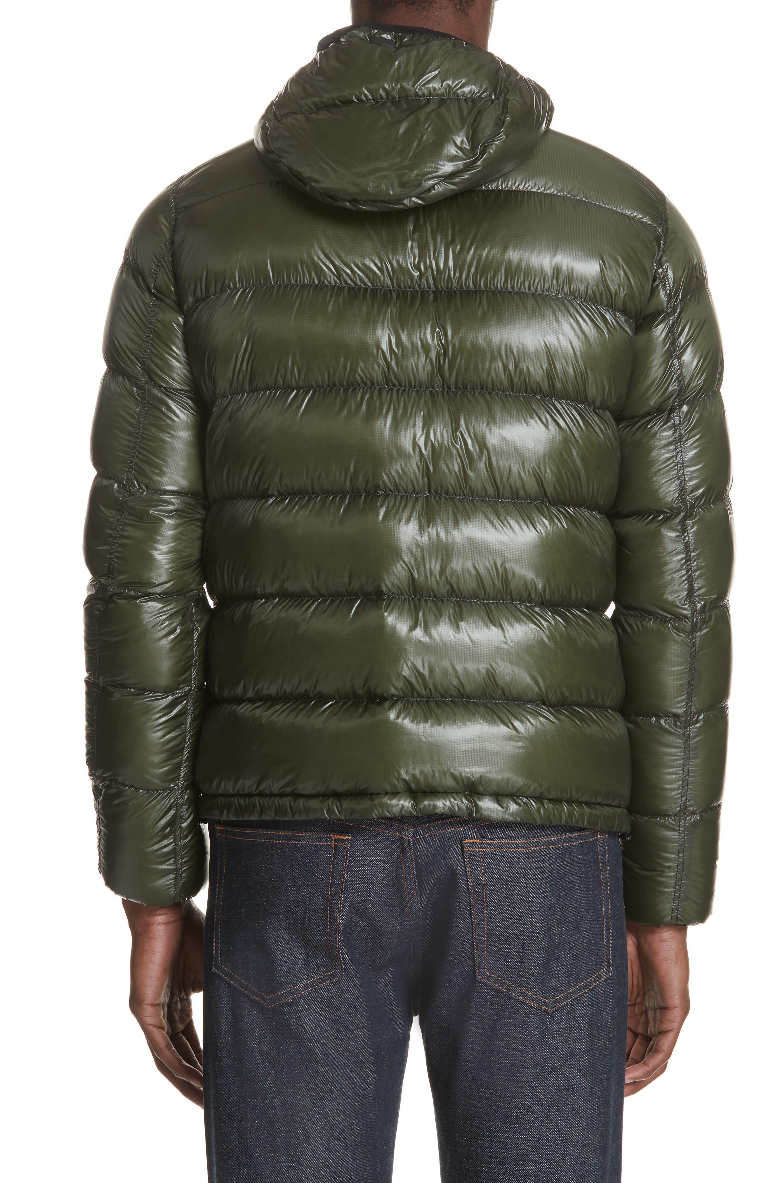 Lightweight Reversible Down Jacket,                             Alternate thumbnail 3, color,                             GREEN