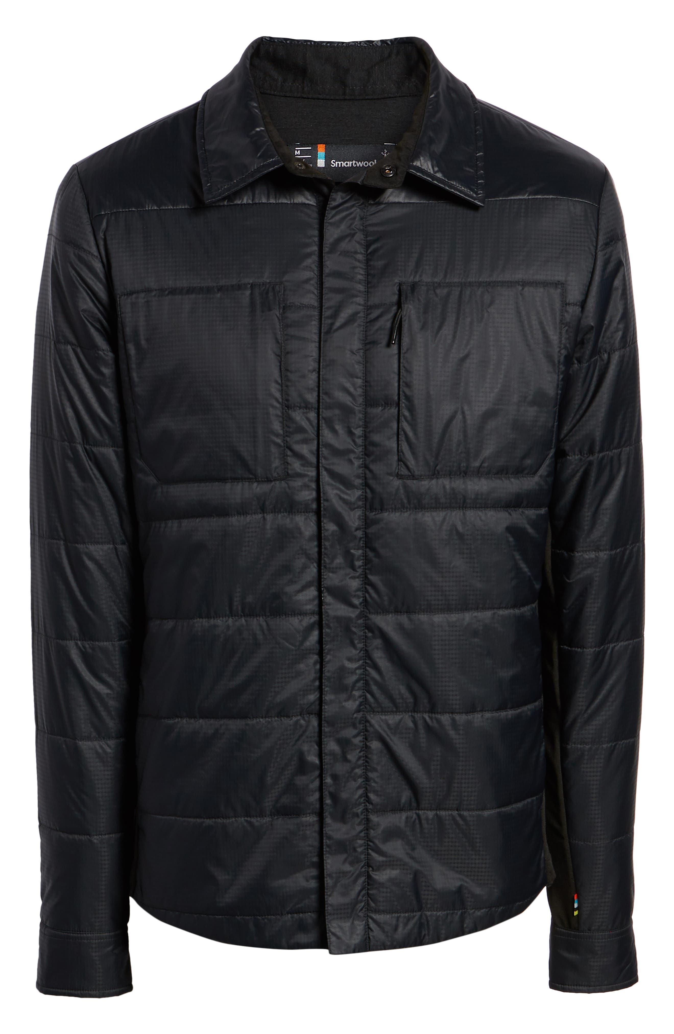 SmartLoft 60 Shirt Jacket,                             Alternate thumbnail 5, color,                             BLACK