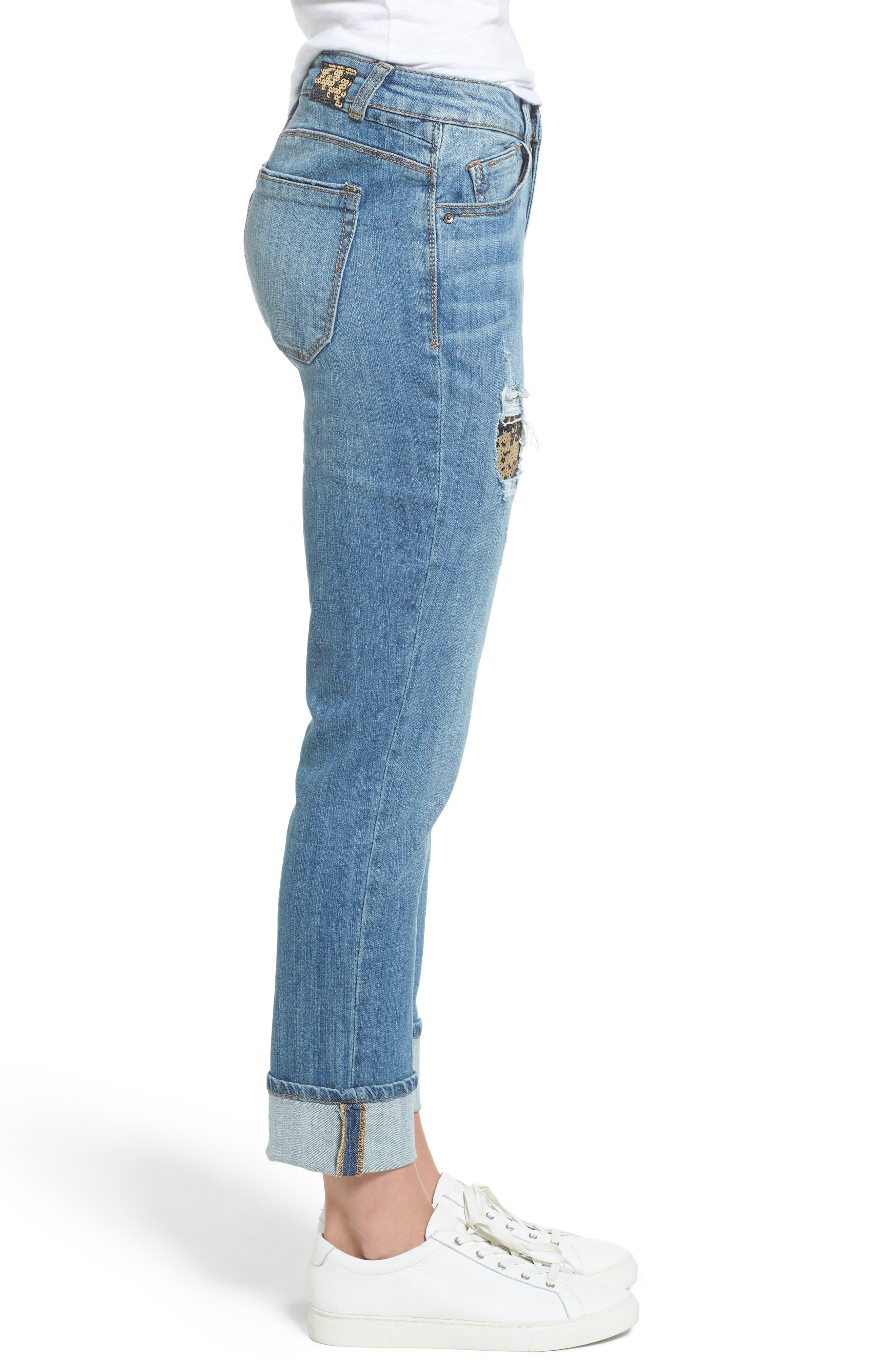 Flexellent Skinny Girlfriend Jeans,                             Alternate thumbnail 3, color,                             458