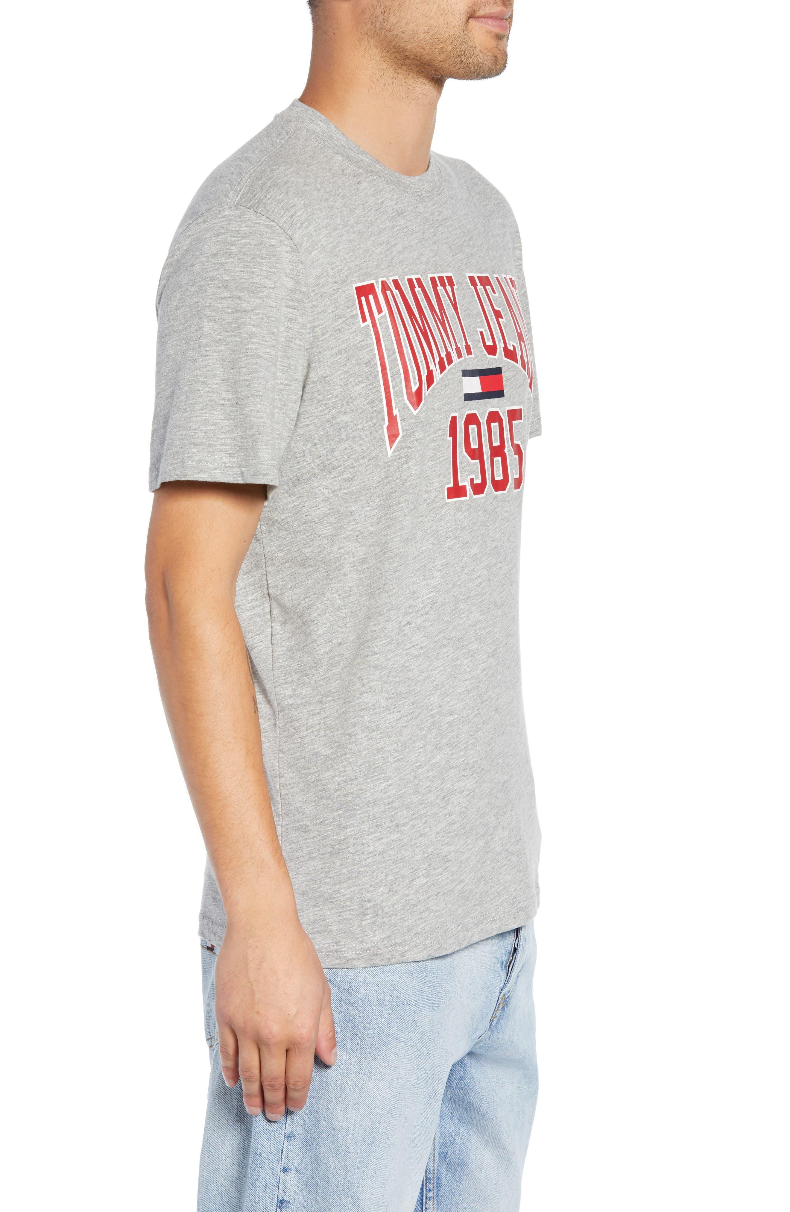 Collegiate Graphic T-Shirt,                             Alternate thumbnail 3, color,                             LIGHT GREY HEATHER