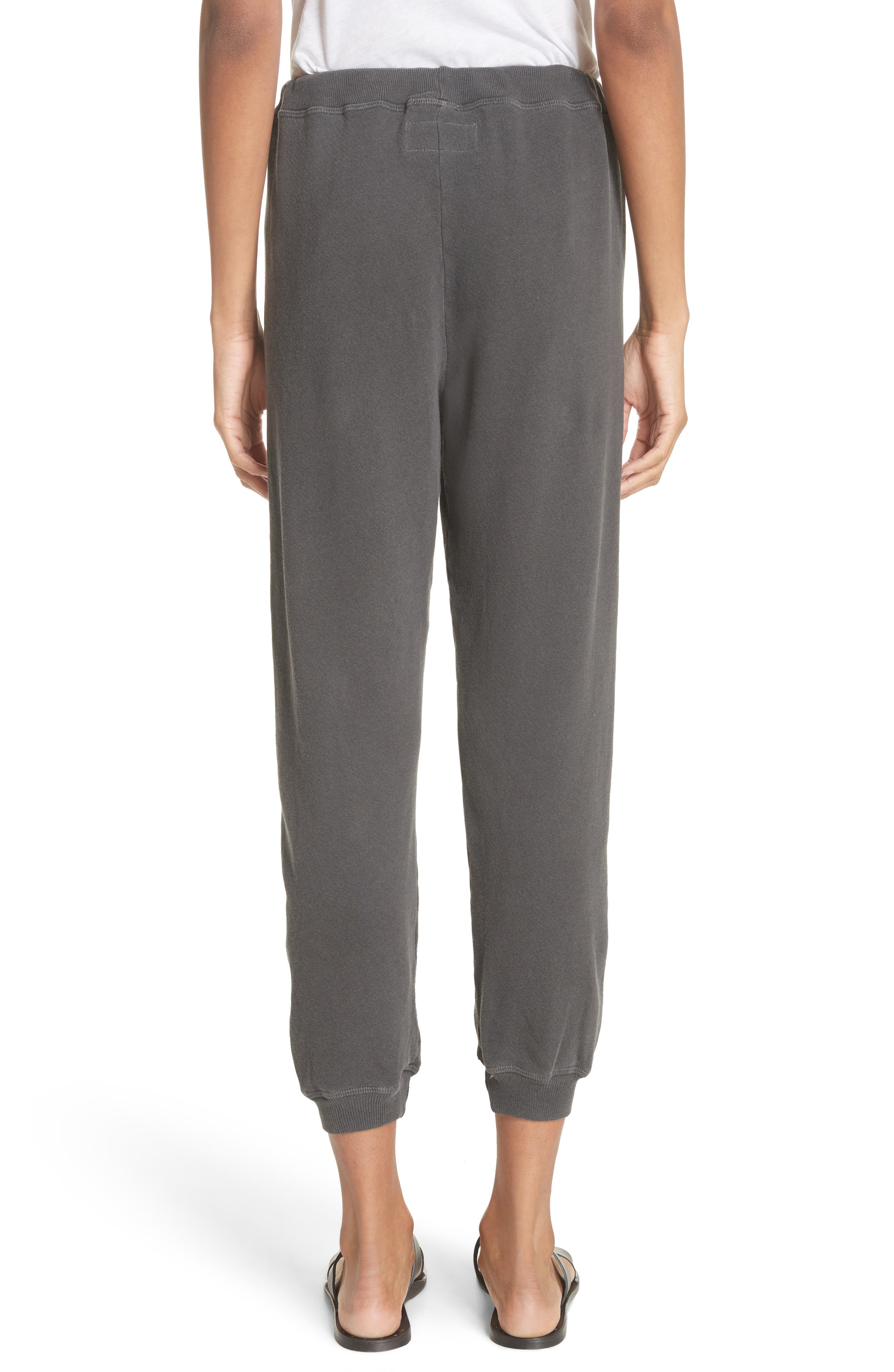 The Cropped Jogger Pants,                             Alternate thumbnail 2, color,                             WASHED BLACK