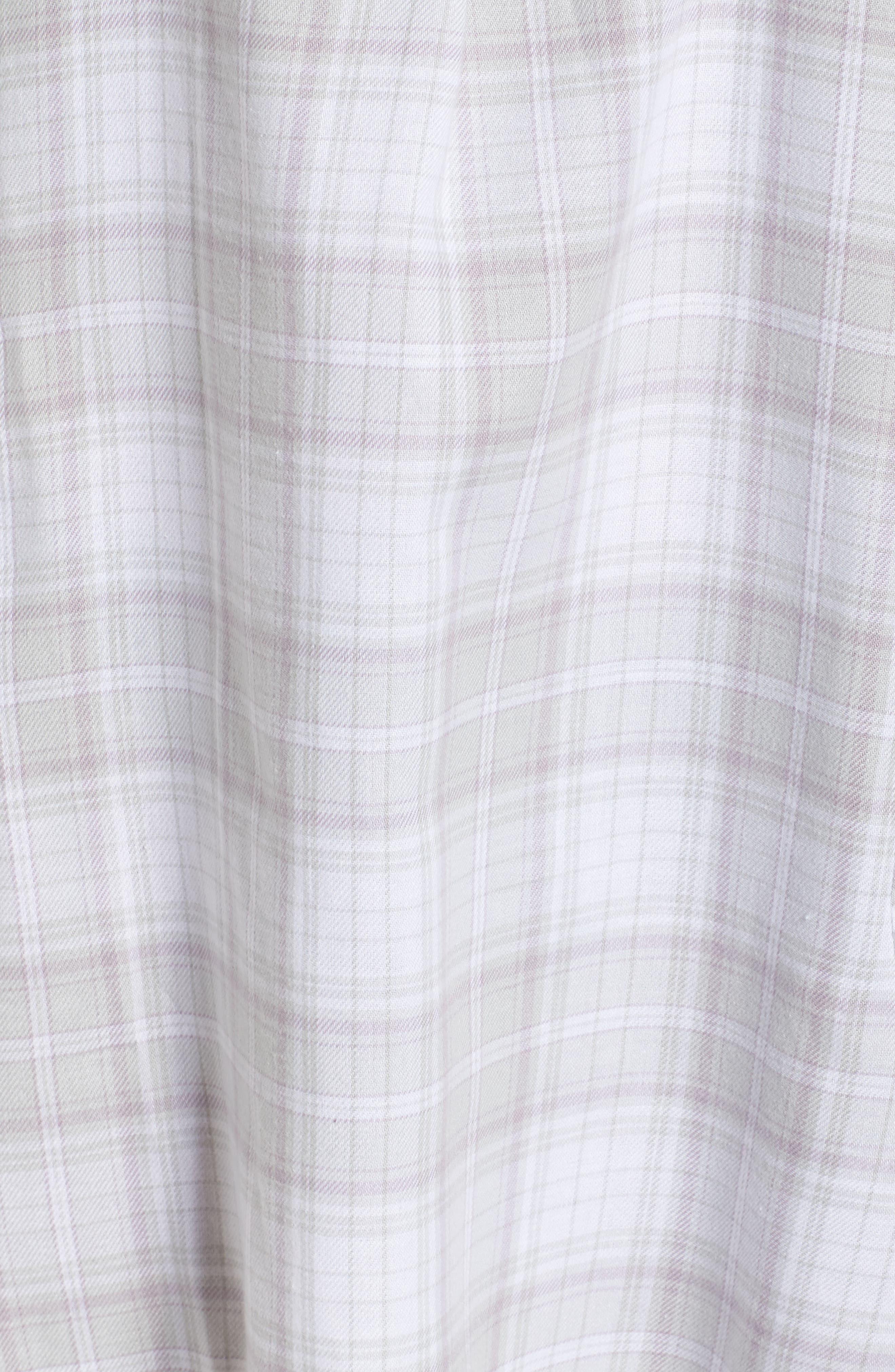 Sleep Shirt & Socks Set,                             Alternate thumbnail 5, color,                             LAVENDER AURA PLAID
