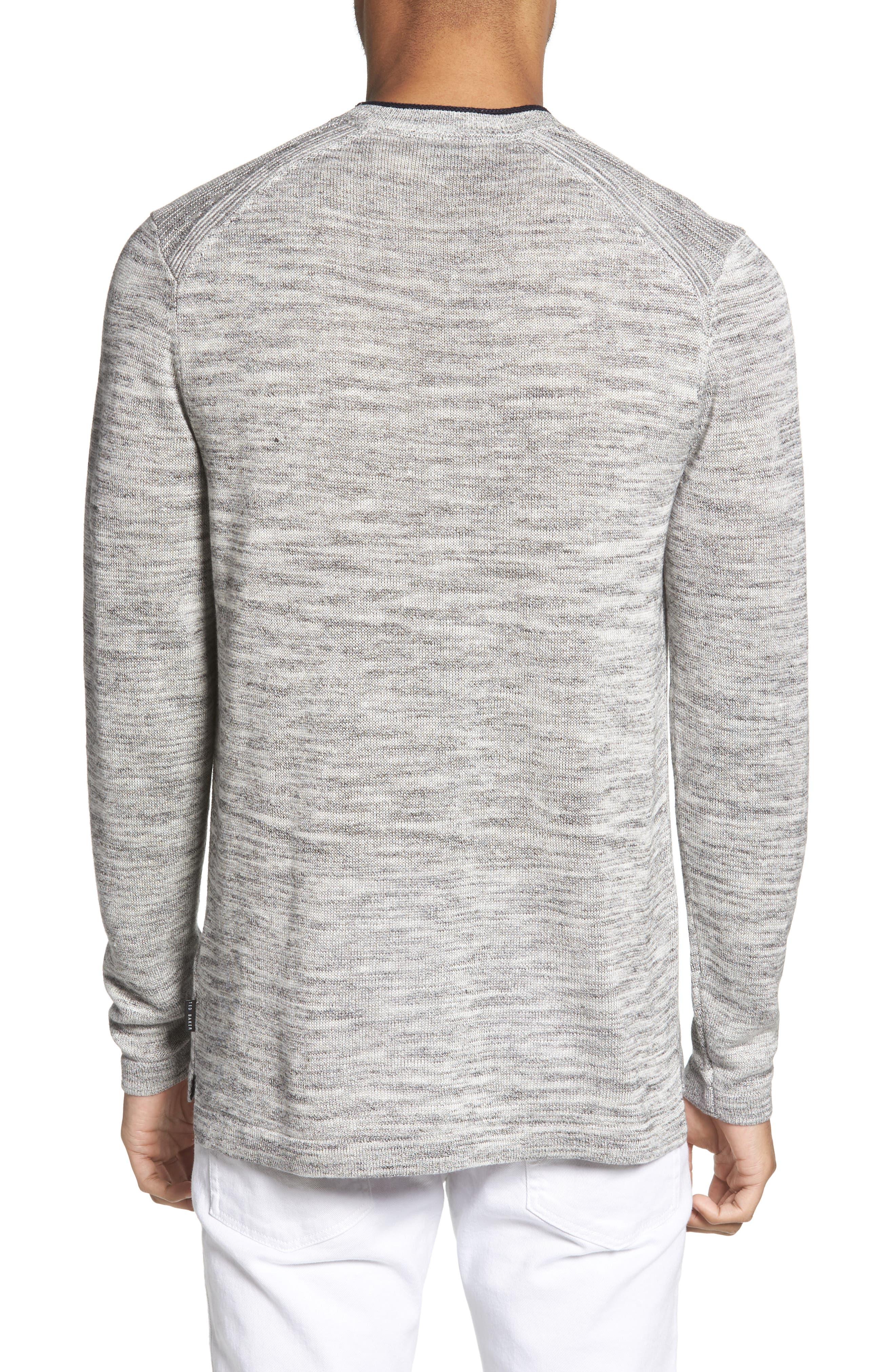 Inzone Crewneck Linen Blend Sweater,                             Alternate thumbnail 2, color,                             050