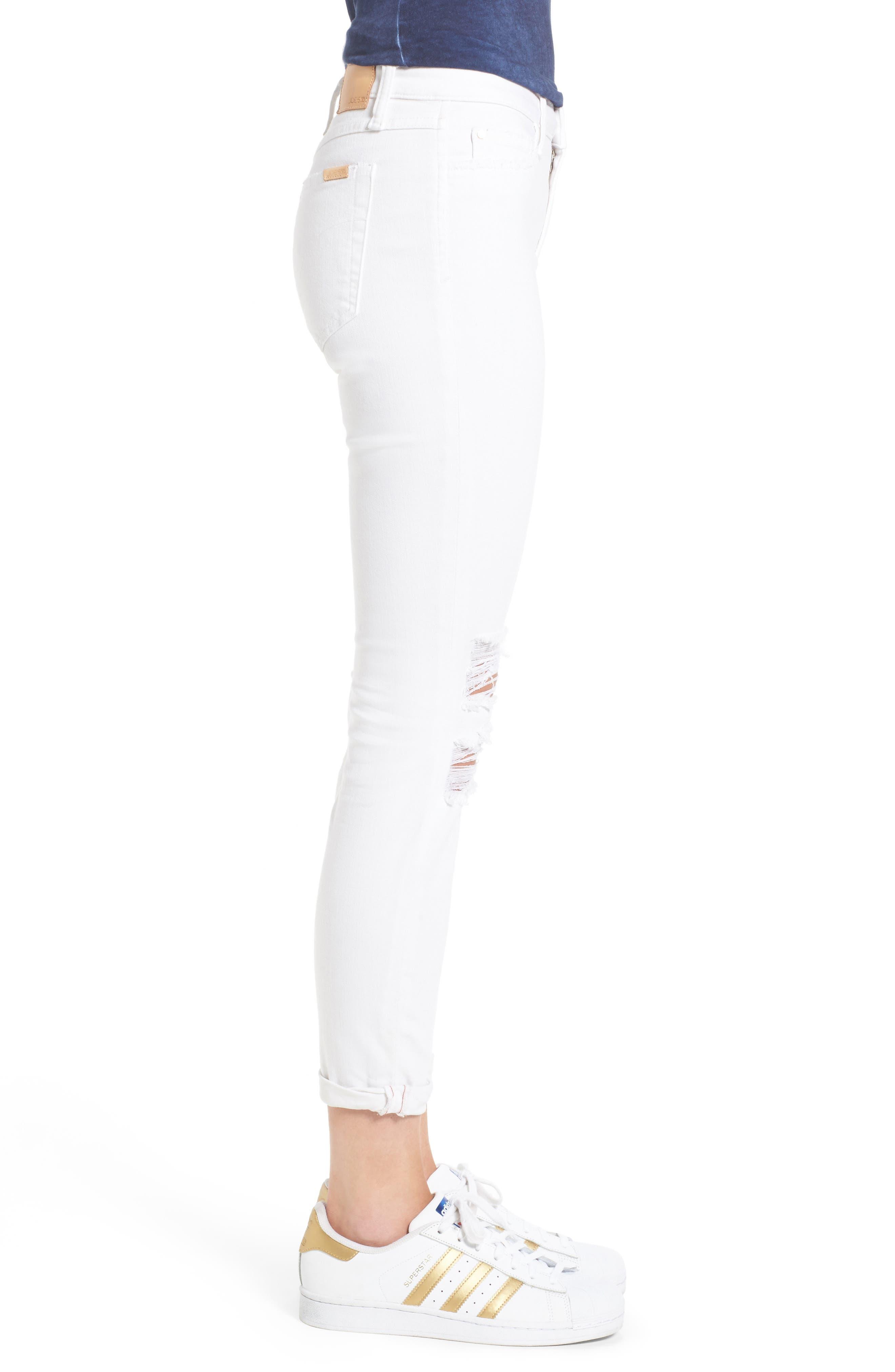 Andie Crop Skinny Jeans,                             Alternate thumbnail 3, color,                             100