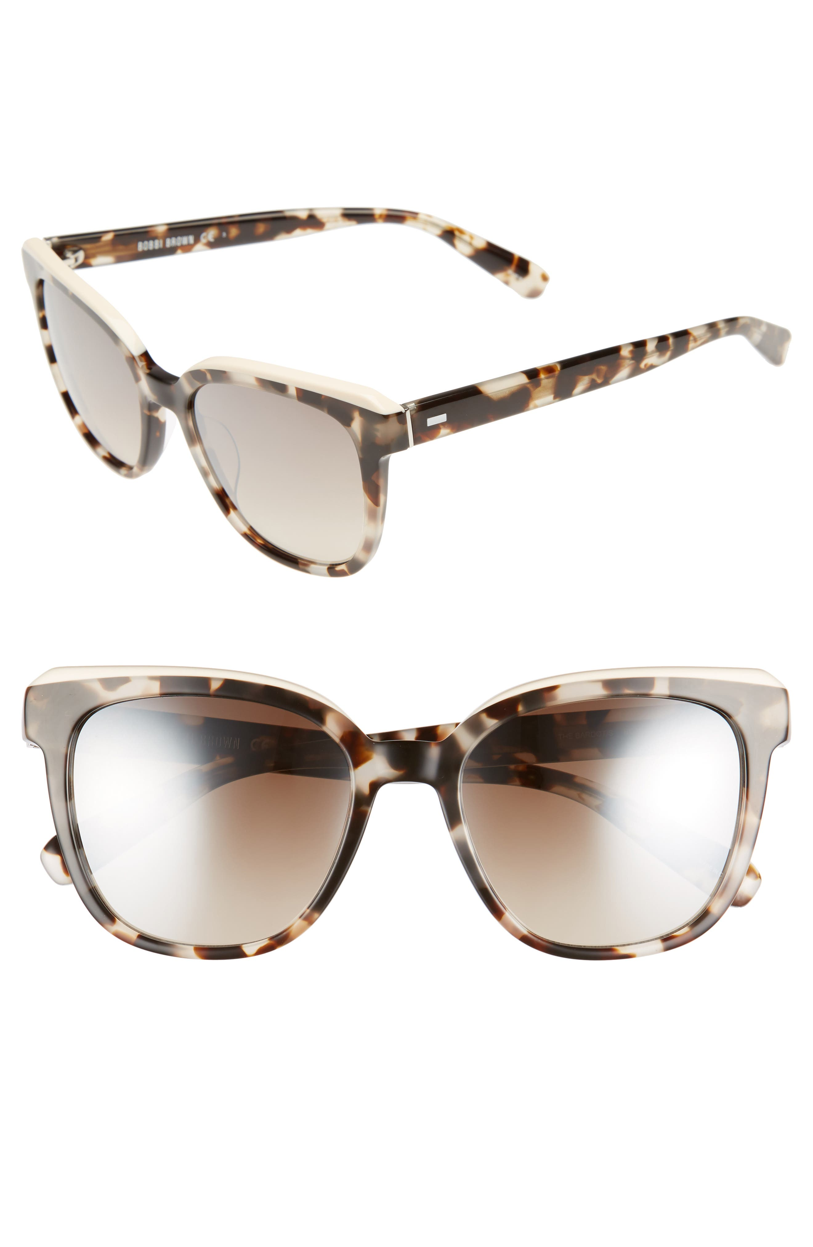 The Bardot 53mm Gradient Sunglasses,                             Main thumbnail 2, color,