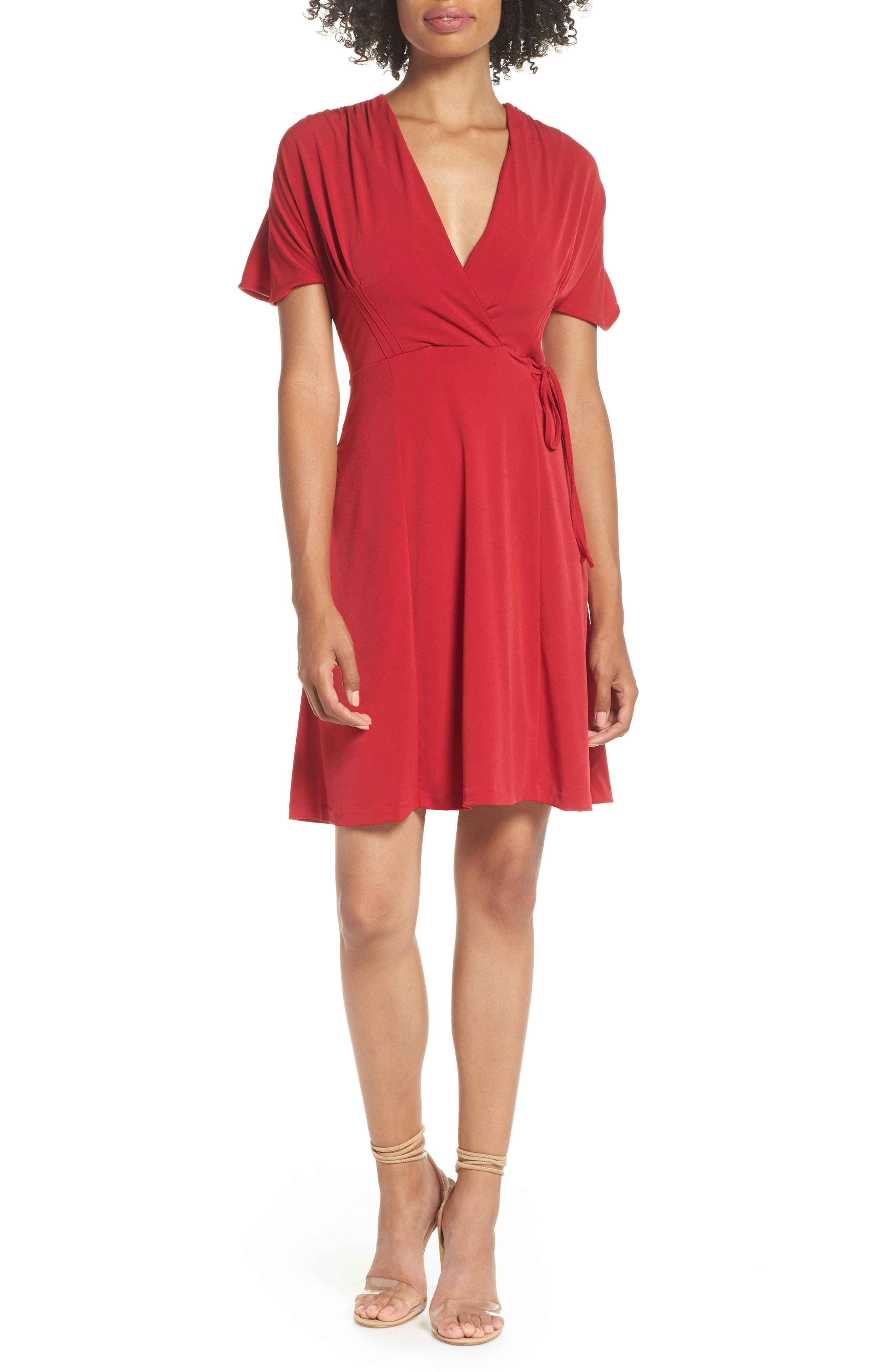 French Connection Alexia Faux Wrap Dress, Red