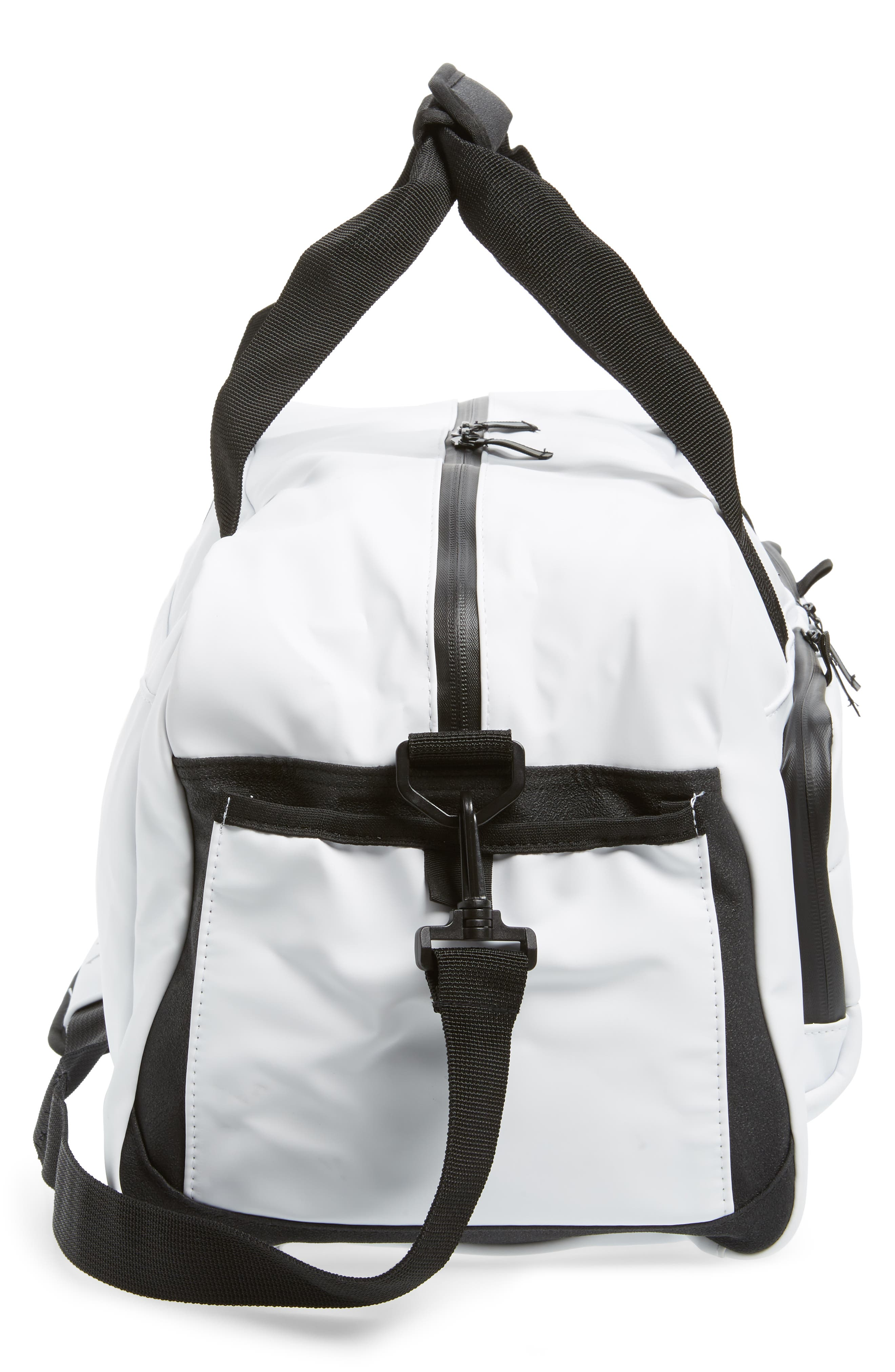 Jordan All World Edition Duffel Bag,                             Alternate thumbnail 4, color,                             WHITE