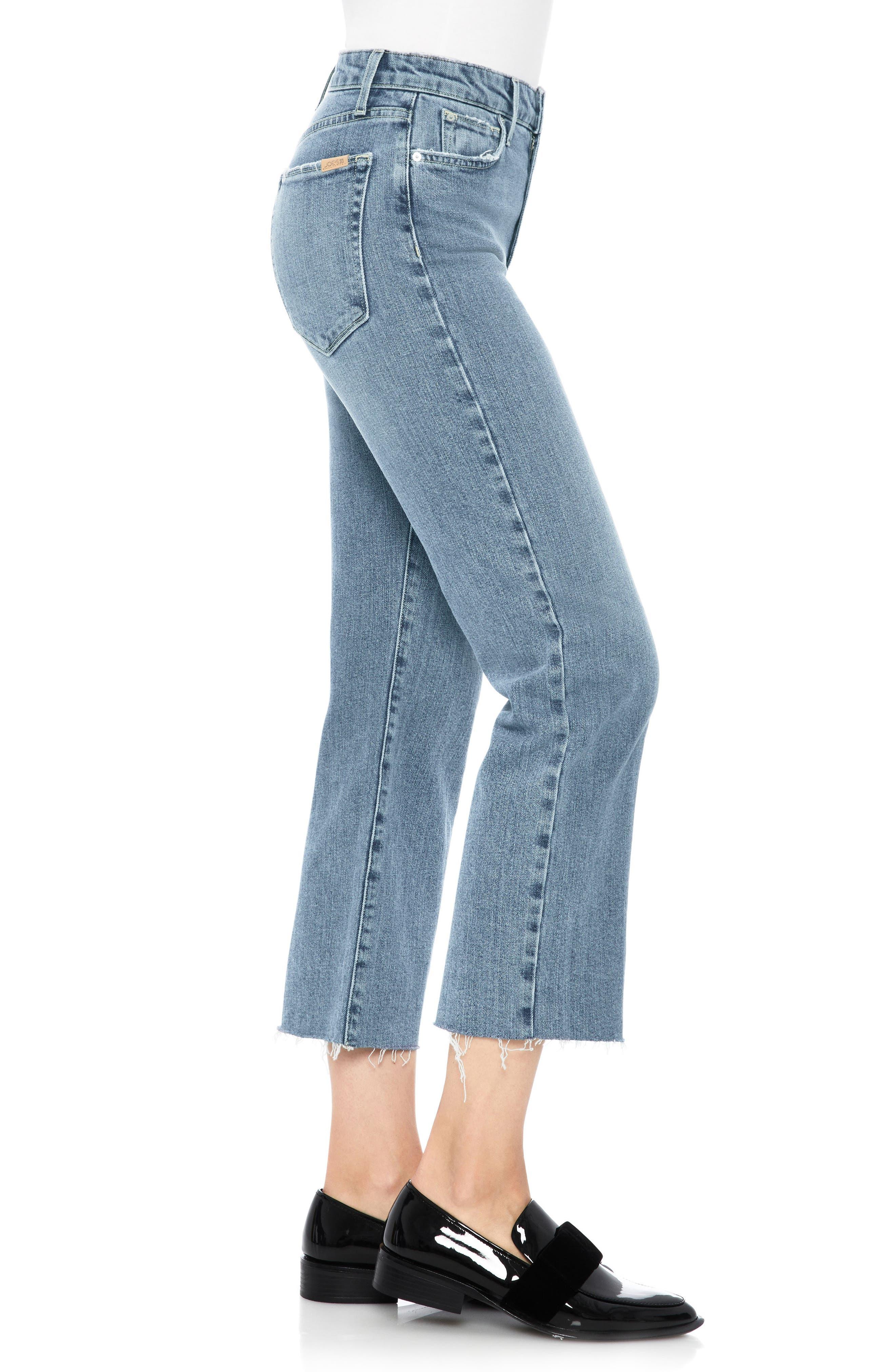 Wyatt Crop Wide Leg Jeans,                             Alternate thumbnail 3, color,                             415