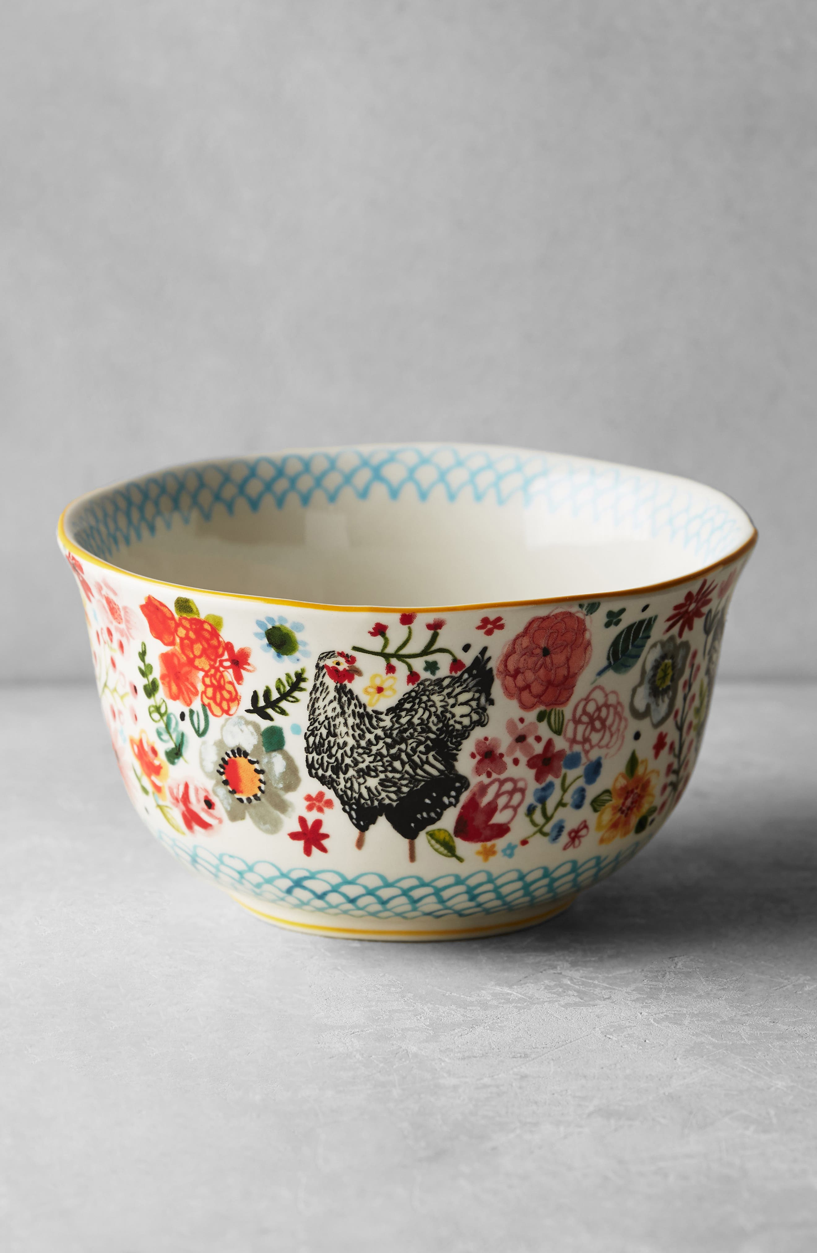 Wing & Petal Stoneware Bowl,                             Alternate thumbnail 8, color,