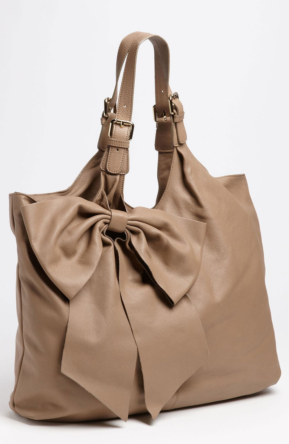'Bow' Leather Hobo,                             Main thumbnail 2, color,