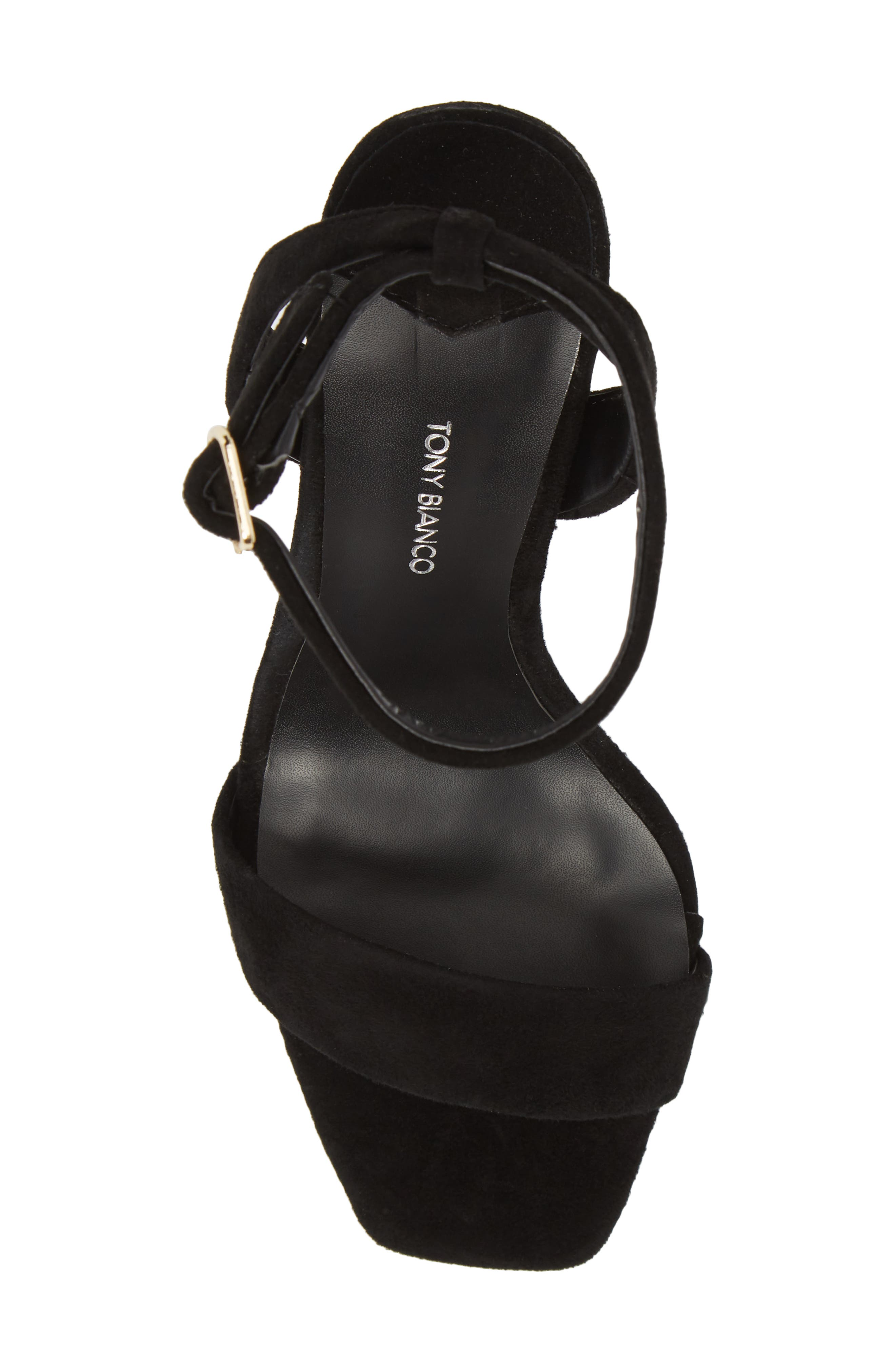 Star Sandal,                             Alternate thumbnail 5, color,                             BLACK SUEDE