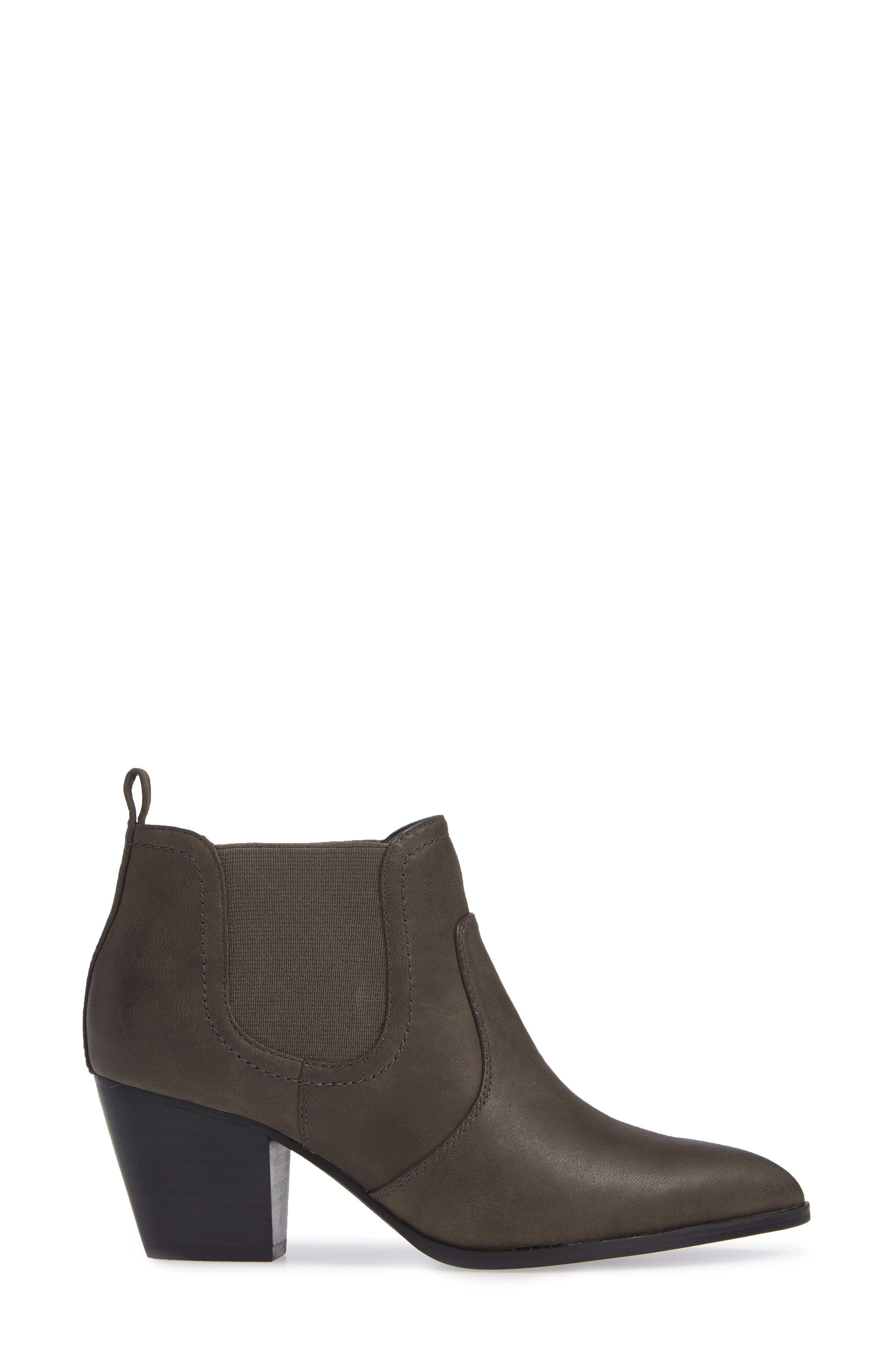 Emerson Chelsea Bootie,                             Alternate thumbnail 3, color,                             GREY BURNISHED LEATHER