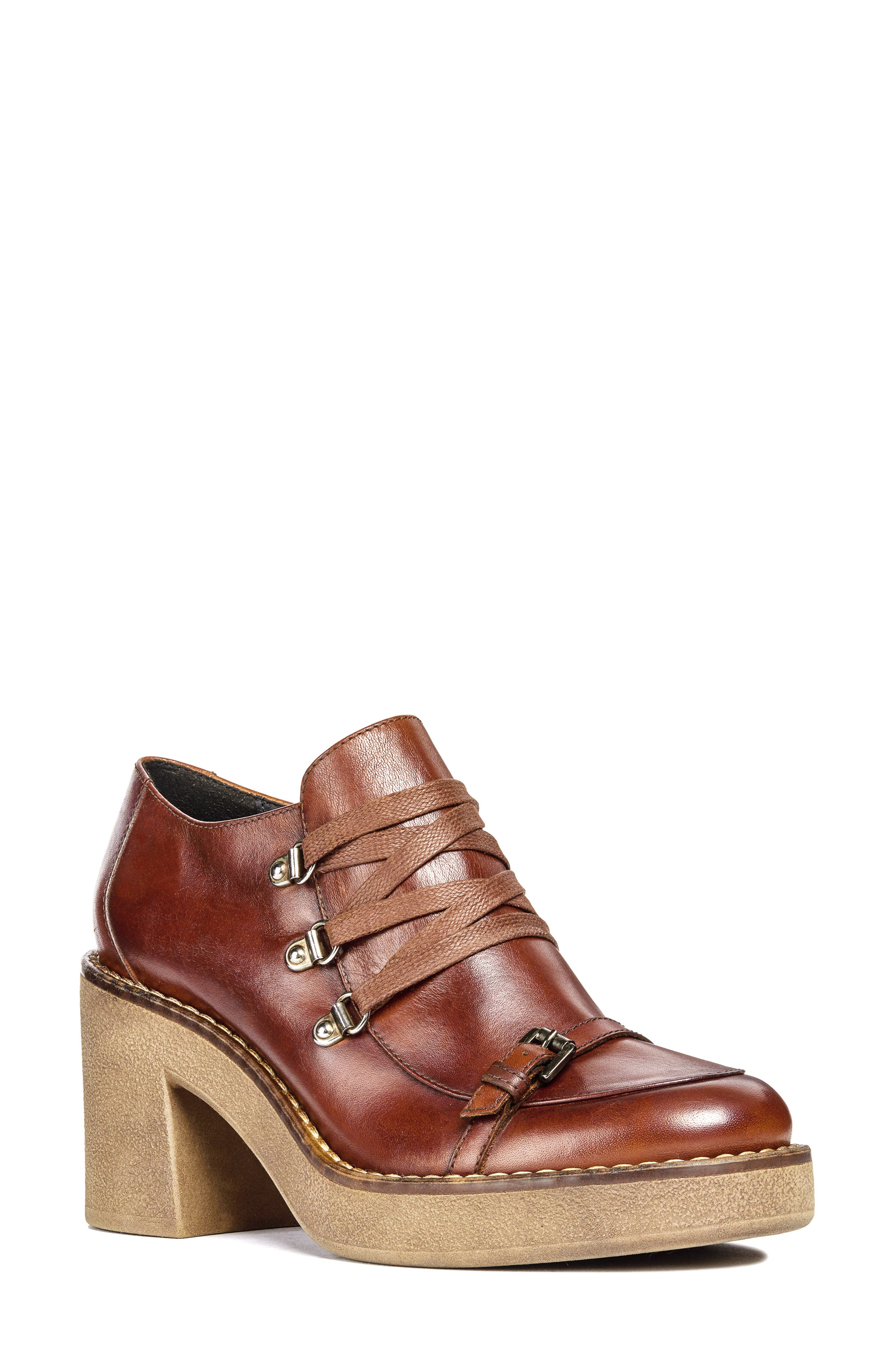 Adrya Bootie,                         Main,                         color, BROWN LEATHER