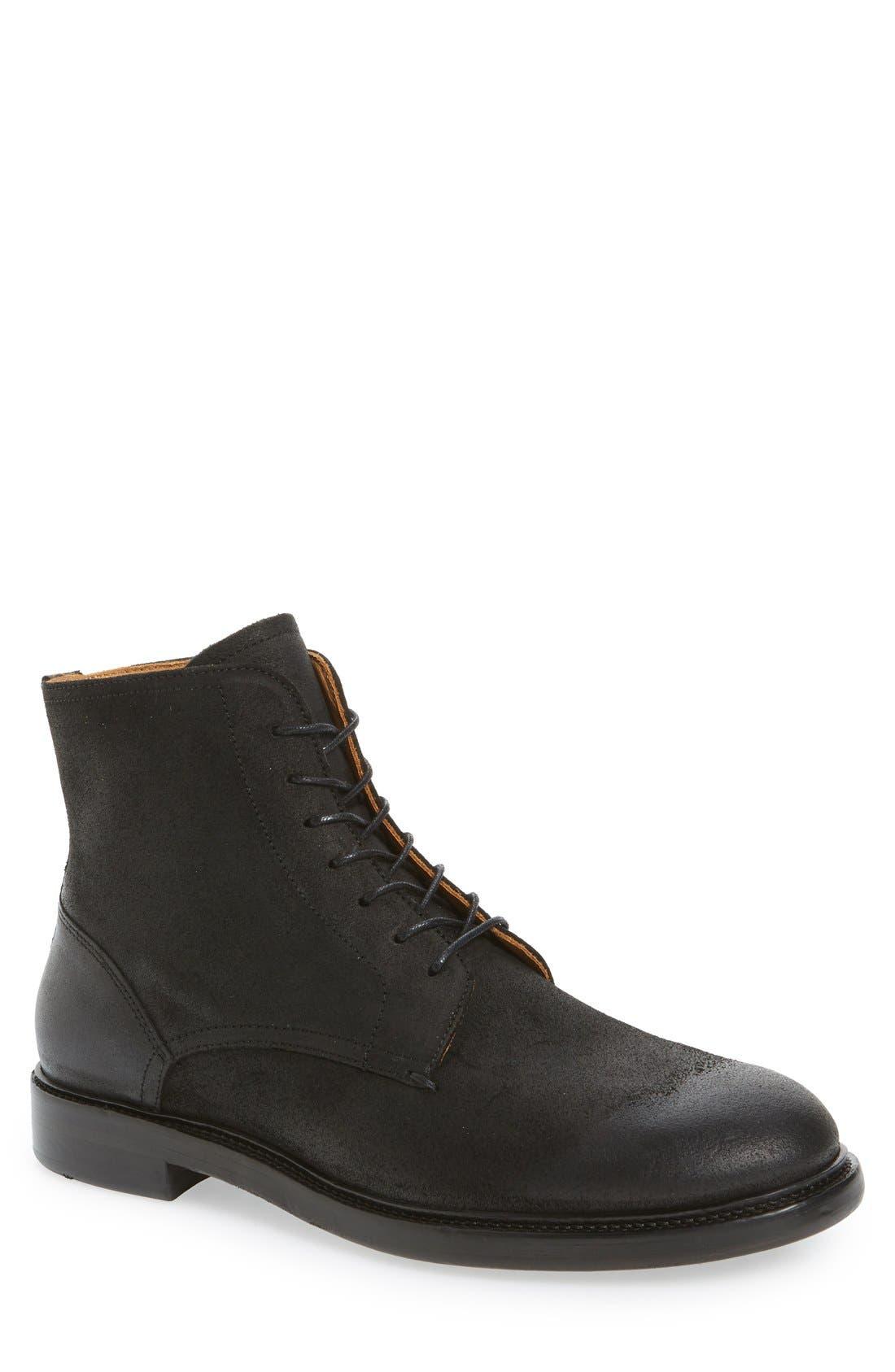 'Sorem' Plain-Toe Derby Boot,                             Main thumbnail 1, color,                             001