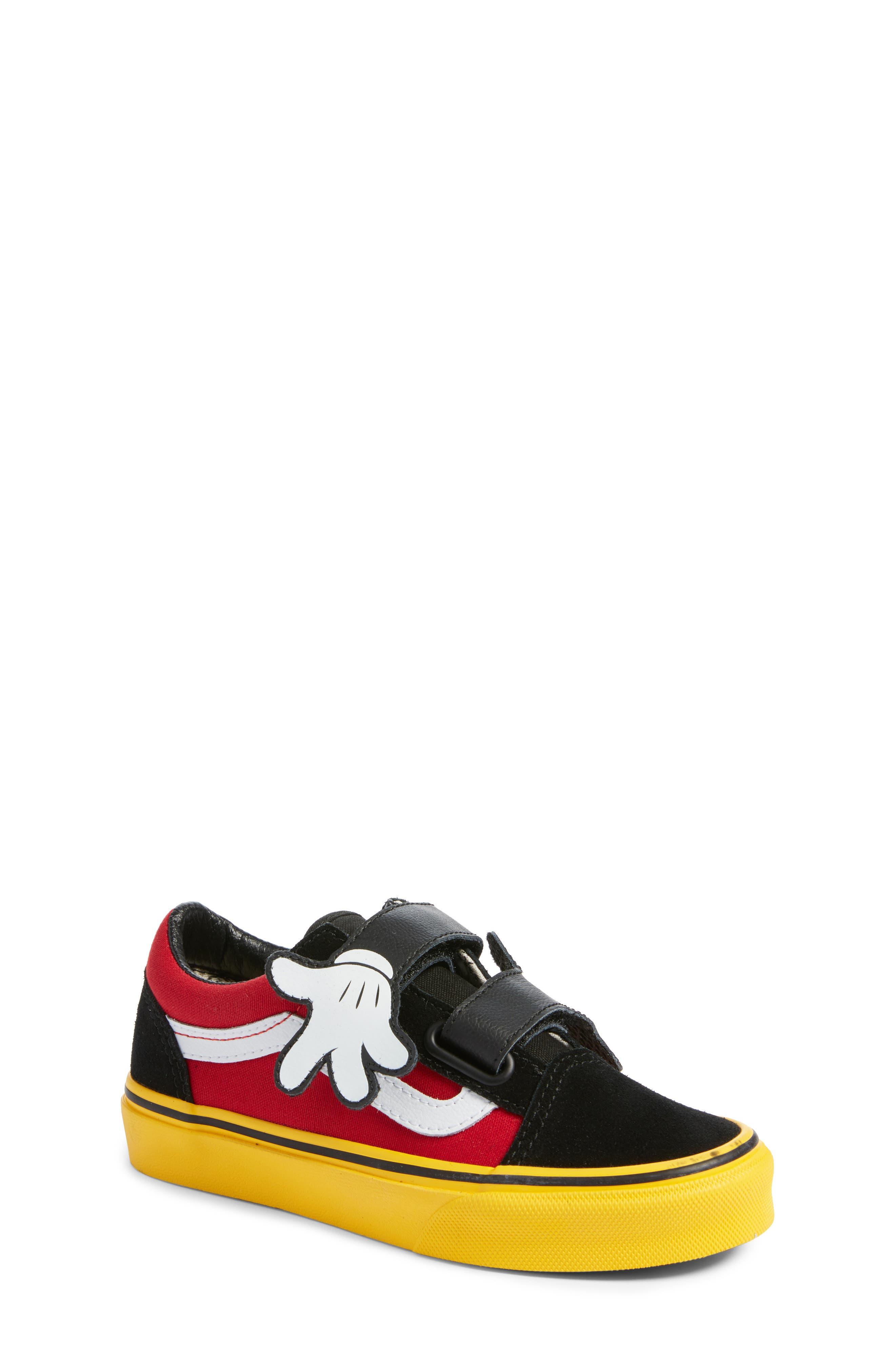 x Disney Mickey Mouse Old Skool V Sneaker,                         Main,                         color, 001