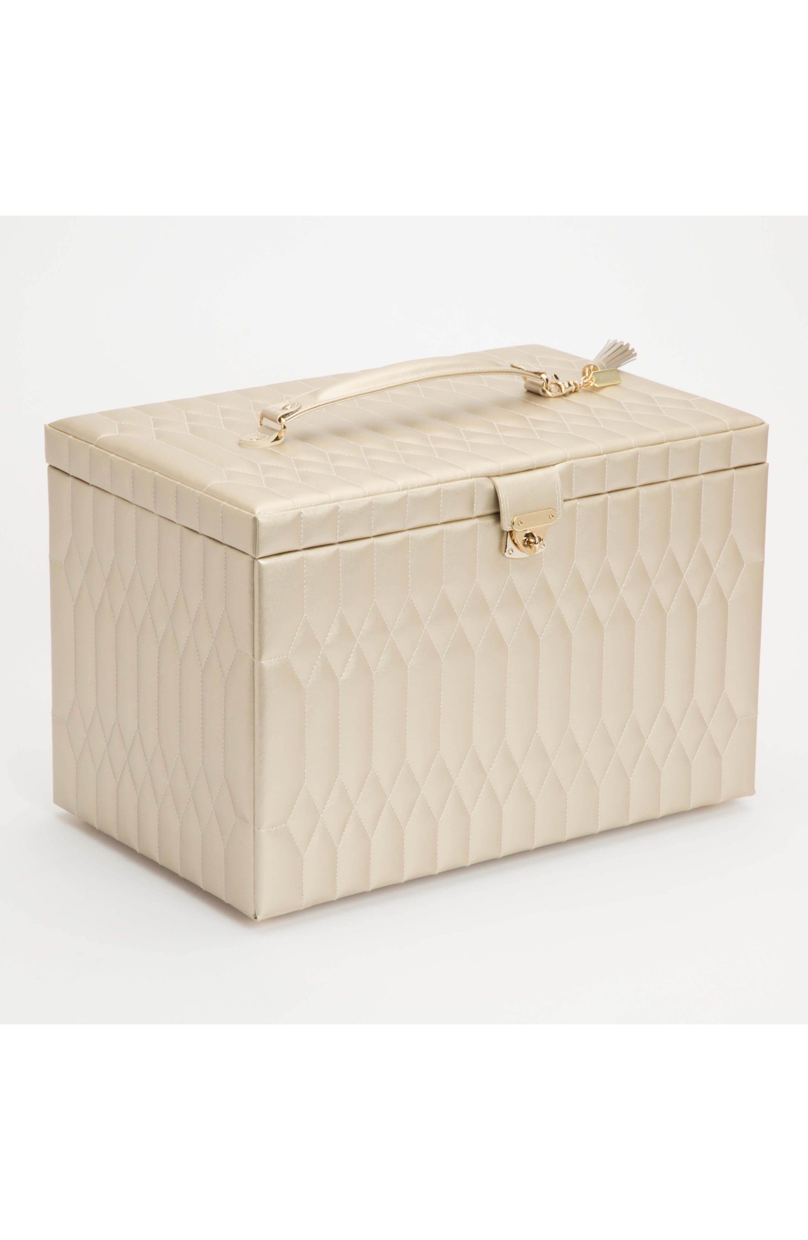 Caroline Jewelry Box,                             Alternate thumbnail 6, color,                             CHAMPAGNE - X-LARGE