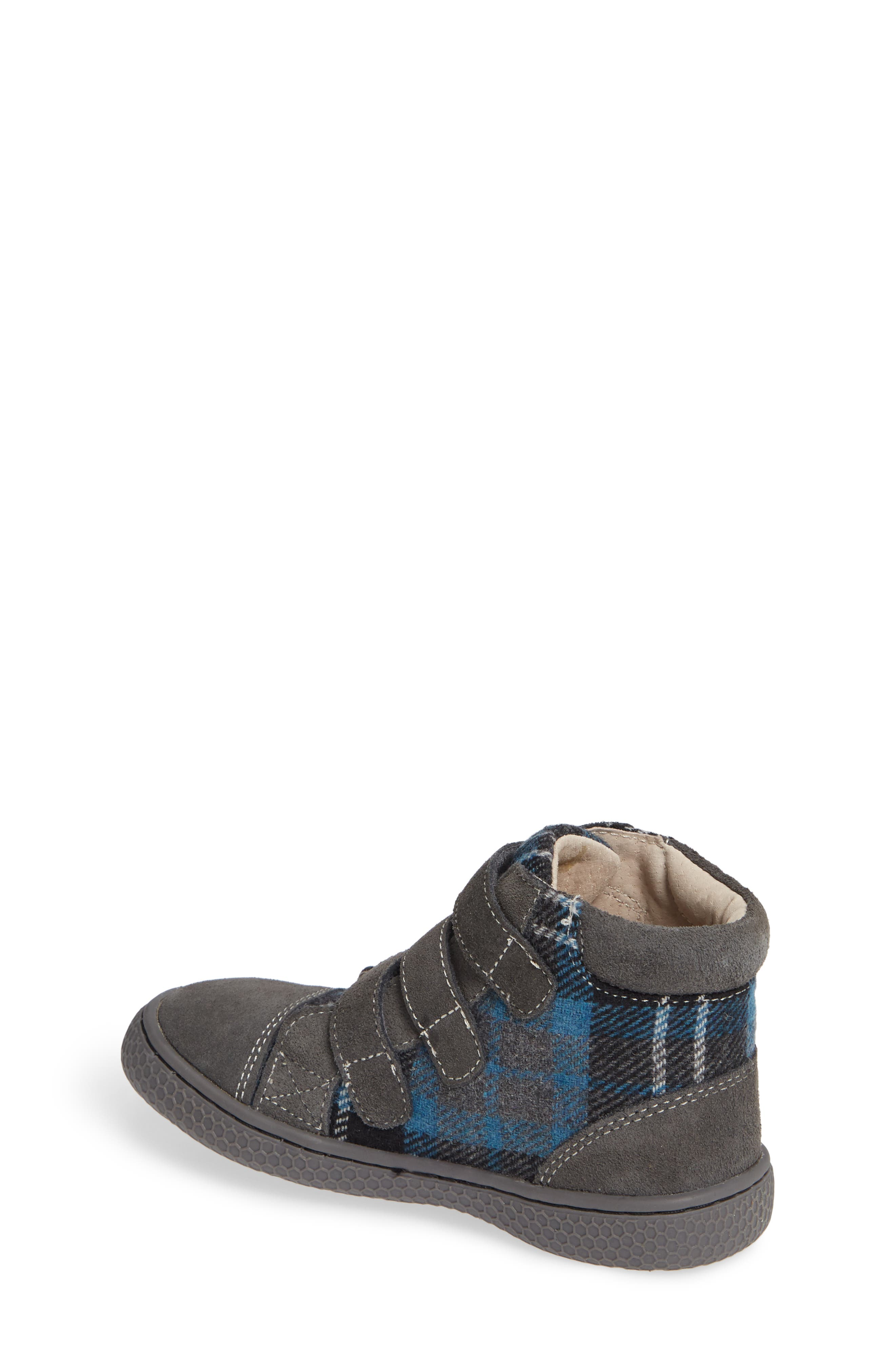 'Jamie' High Top Sneaker,                             Alternate thumbnail 2, color,                             GRAY PLAID