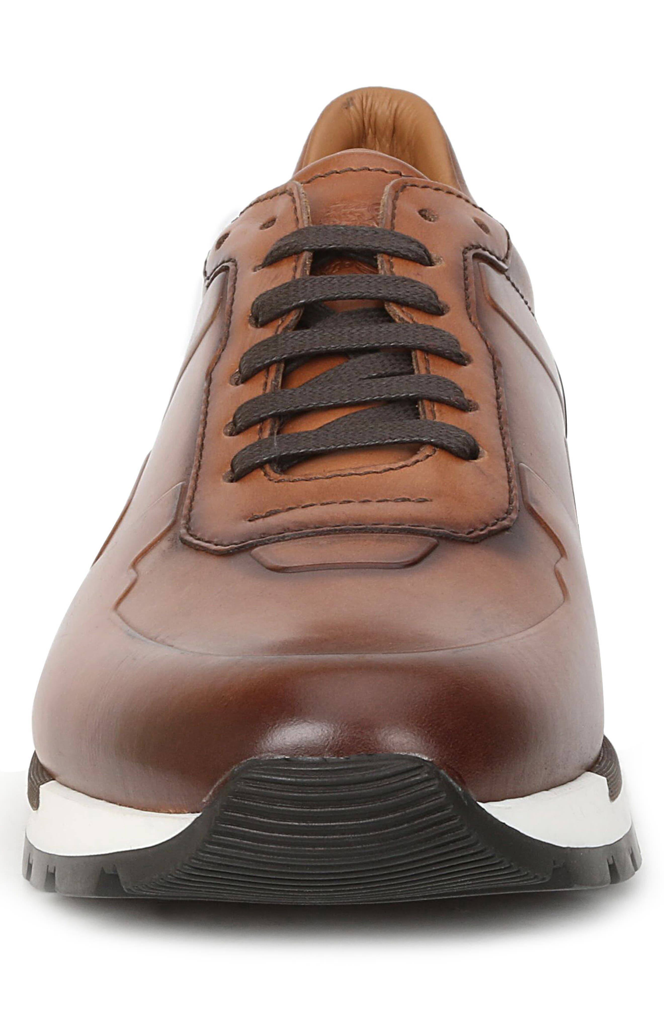 Davio Low Top Sneaker,                             Alternate thumbnail 4, color,                             COGNAC