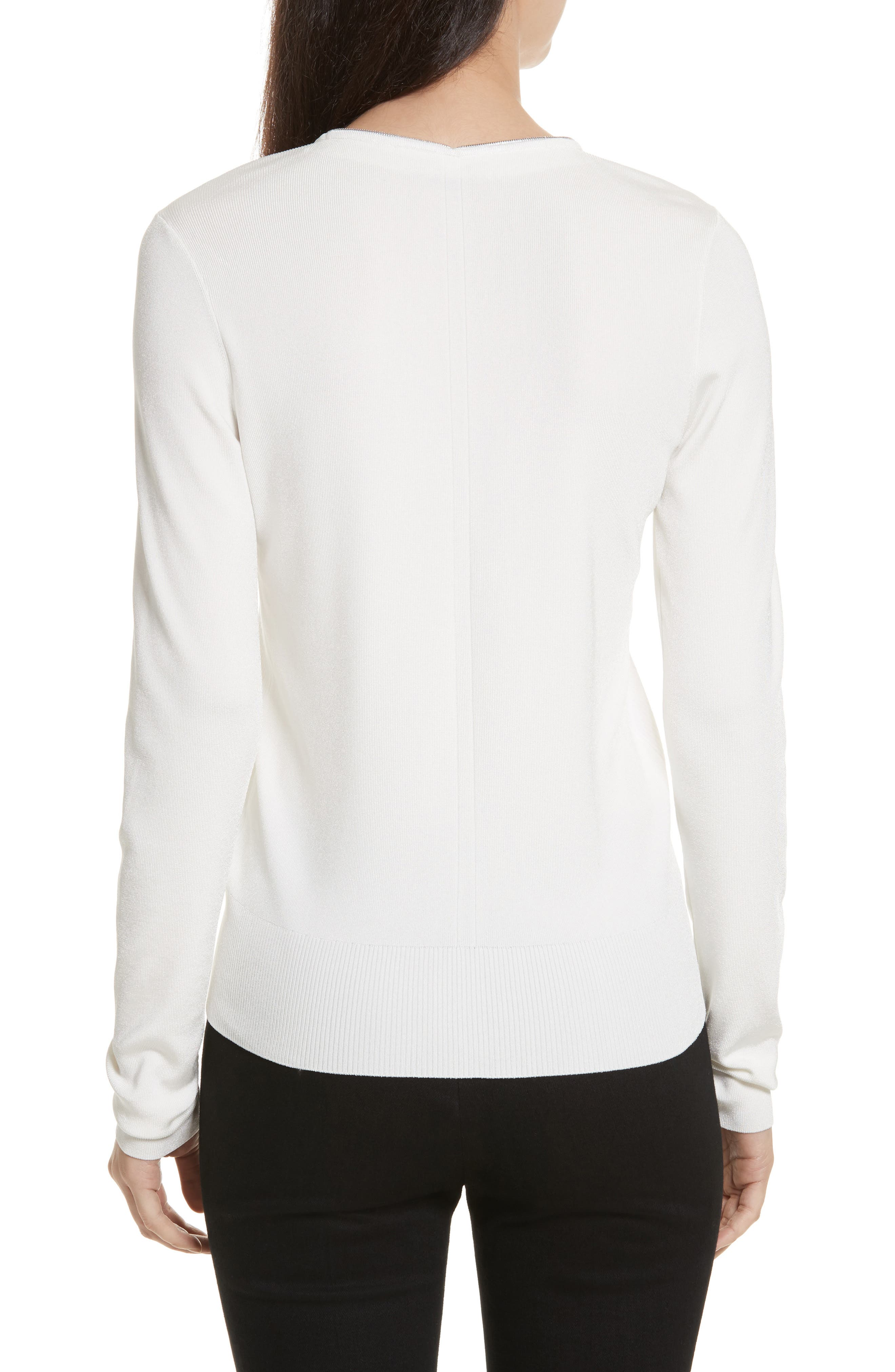 Vivienne Front Zip Sweater,                             Alternate thumbnail 2, color,                             900
