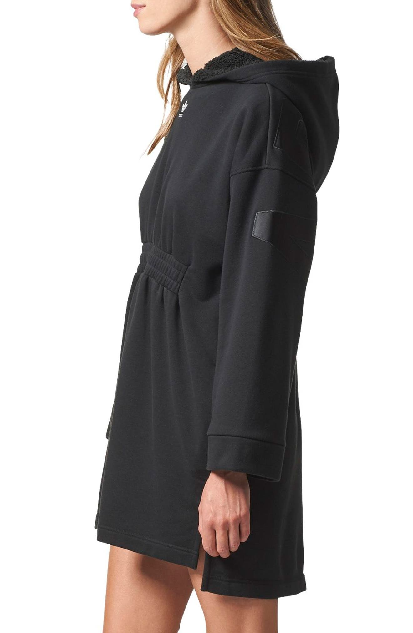 Originals Hooded French Terry Dress,                             Alternate thumbnail 3, color,