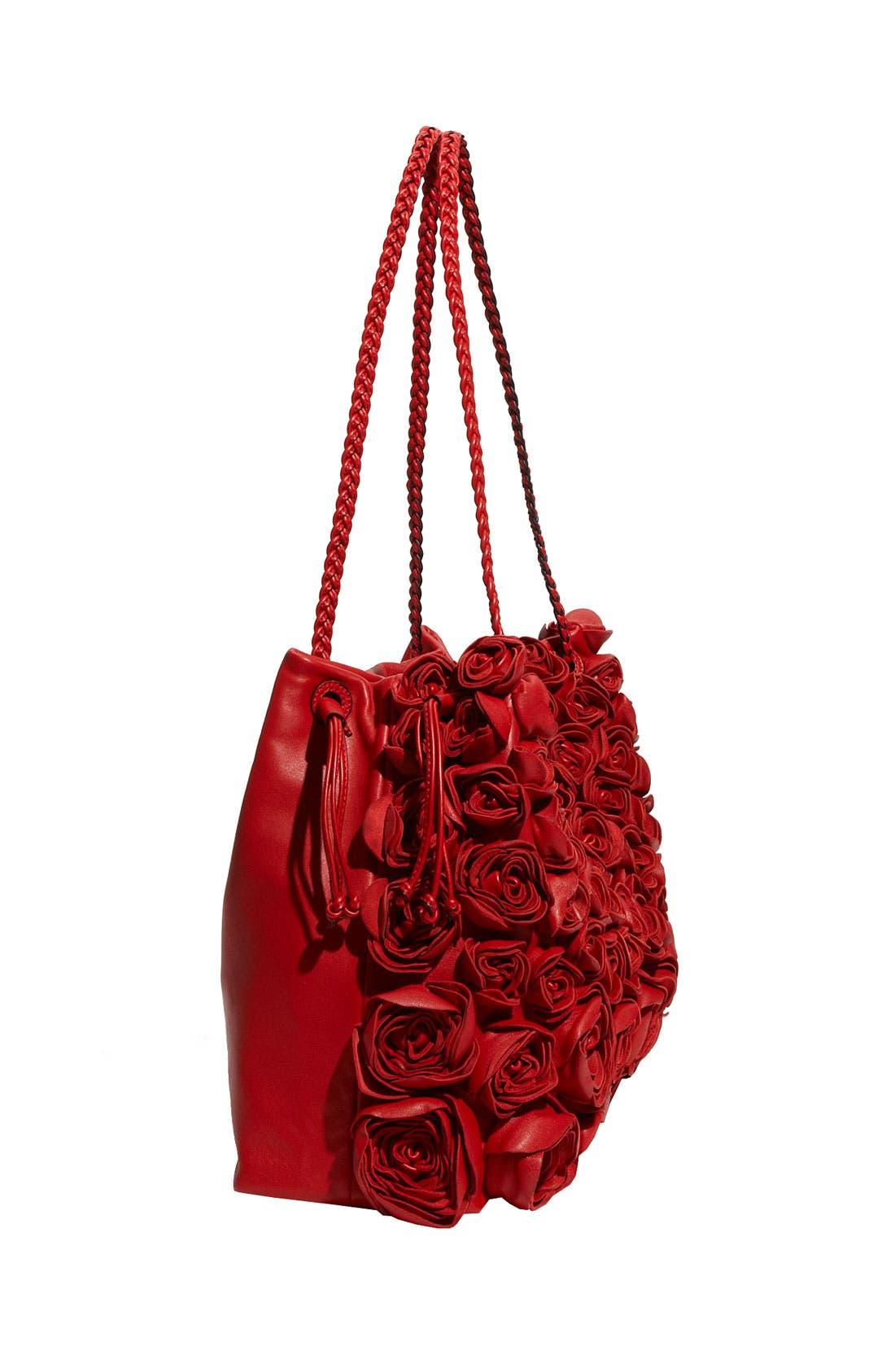 VALENTINO,                             'Nappa Rose' Leather Tote,                             Alternate thumbnail 2, color,                             610