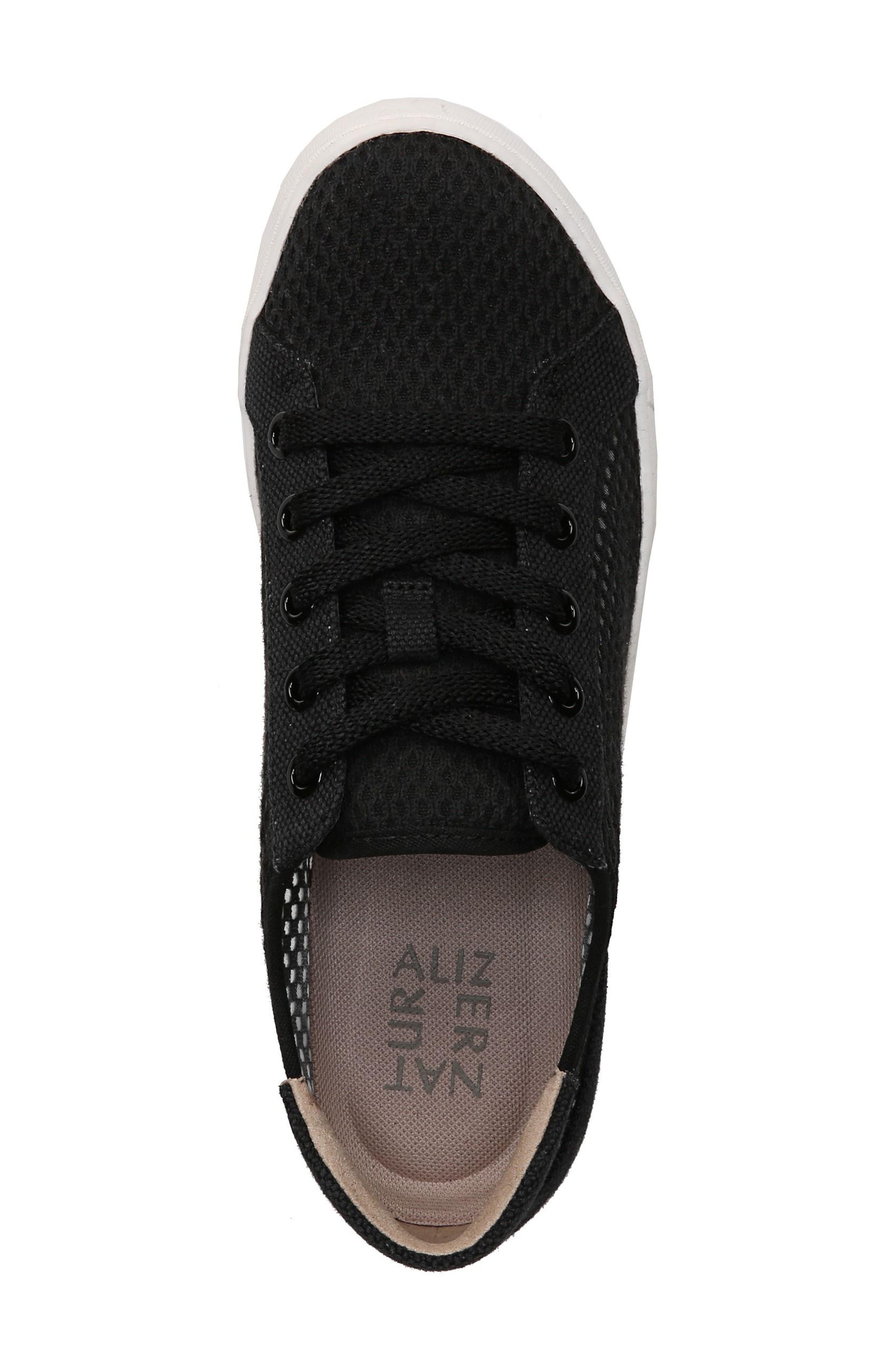 Morrison III Perforated Sneaker,                             Alternate thumbnail 5, color,                             BLACK FABRIC
