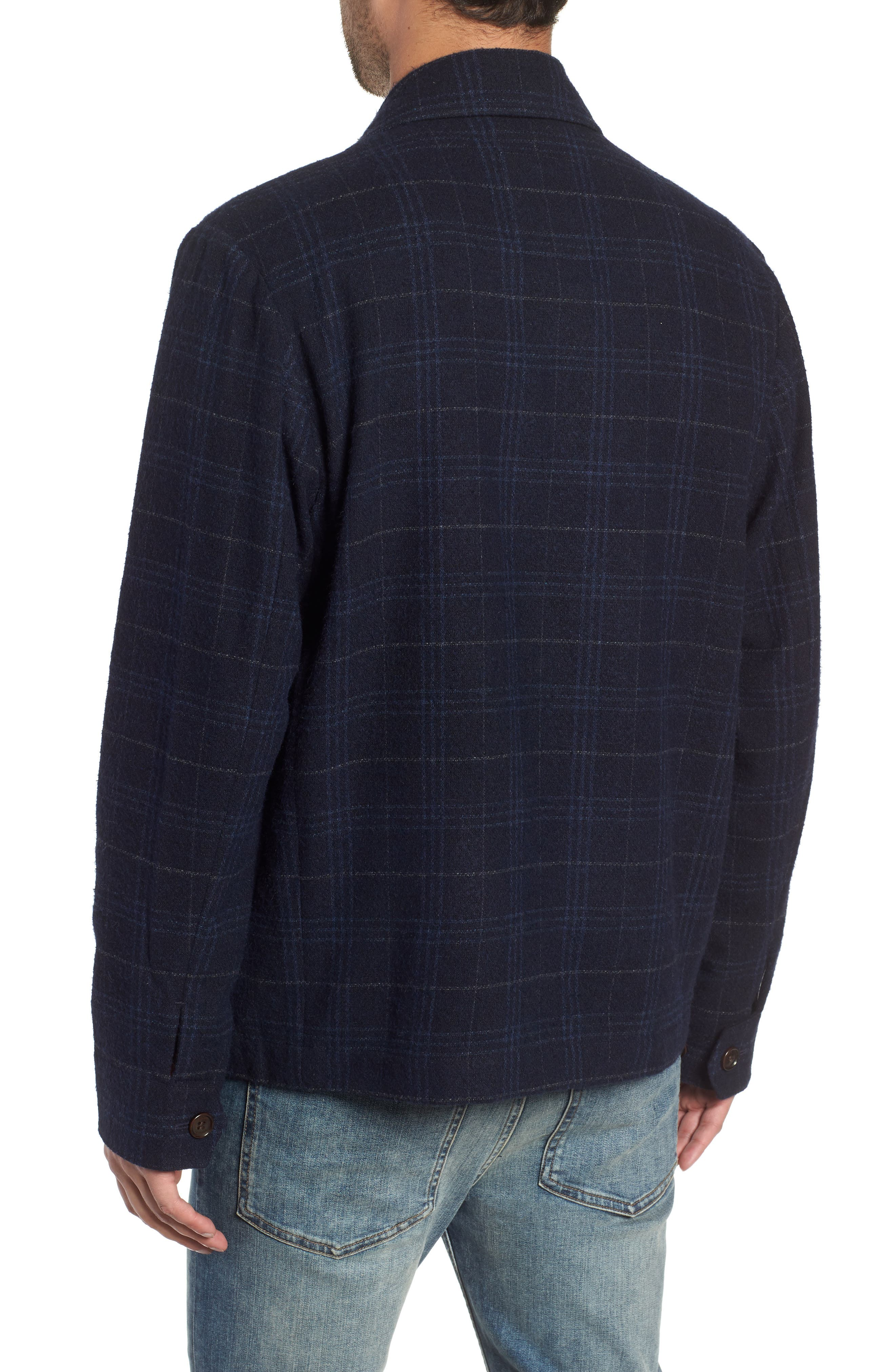 WAX LONDON,                             Witham Coach's Jacket,                             Alternate thumbnail 2, color,                             NAVY CHECK