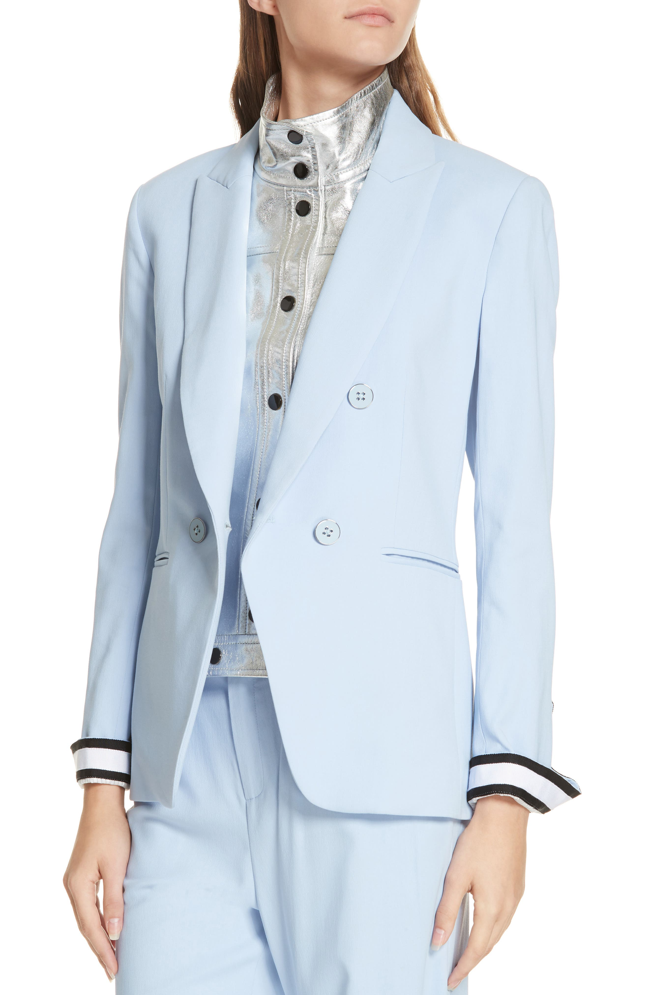 Aros Dickey Jacket,                             Alternate thumbnail 6, color,                             LIGHT BLUE