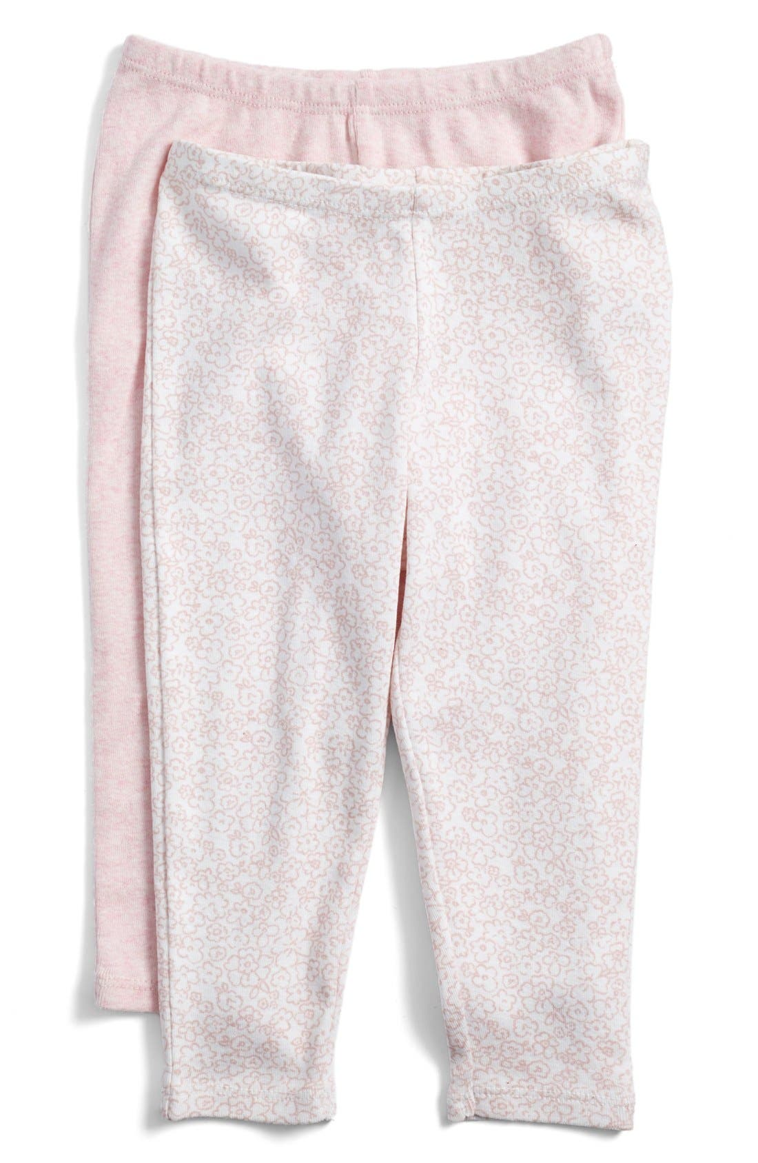 Cotton Leggings,                         Main,                         color, PINK HEATHER FLOWER PACK