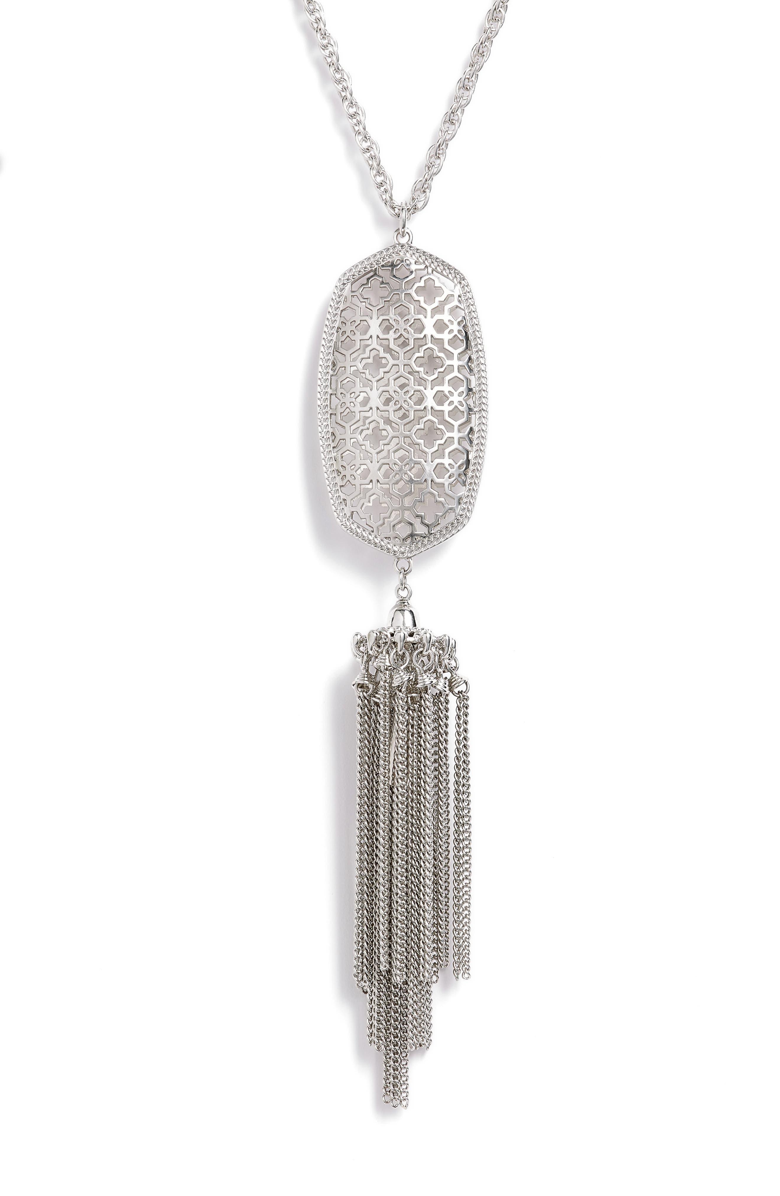 Rayne Stone Tassel Pendant Necklace,                             Alternate thumbnail 111, color,