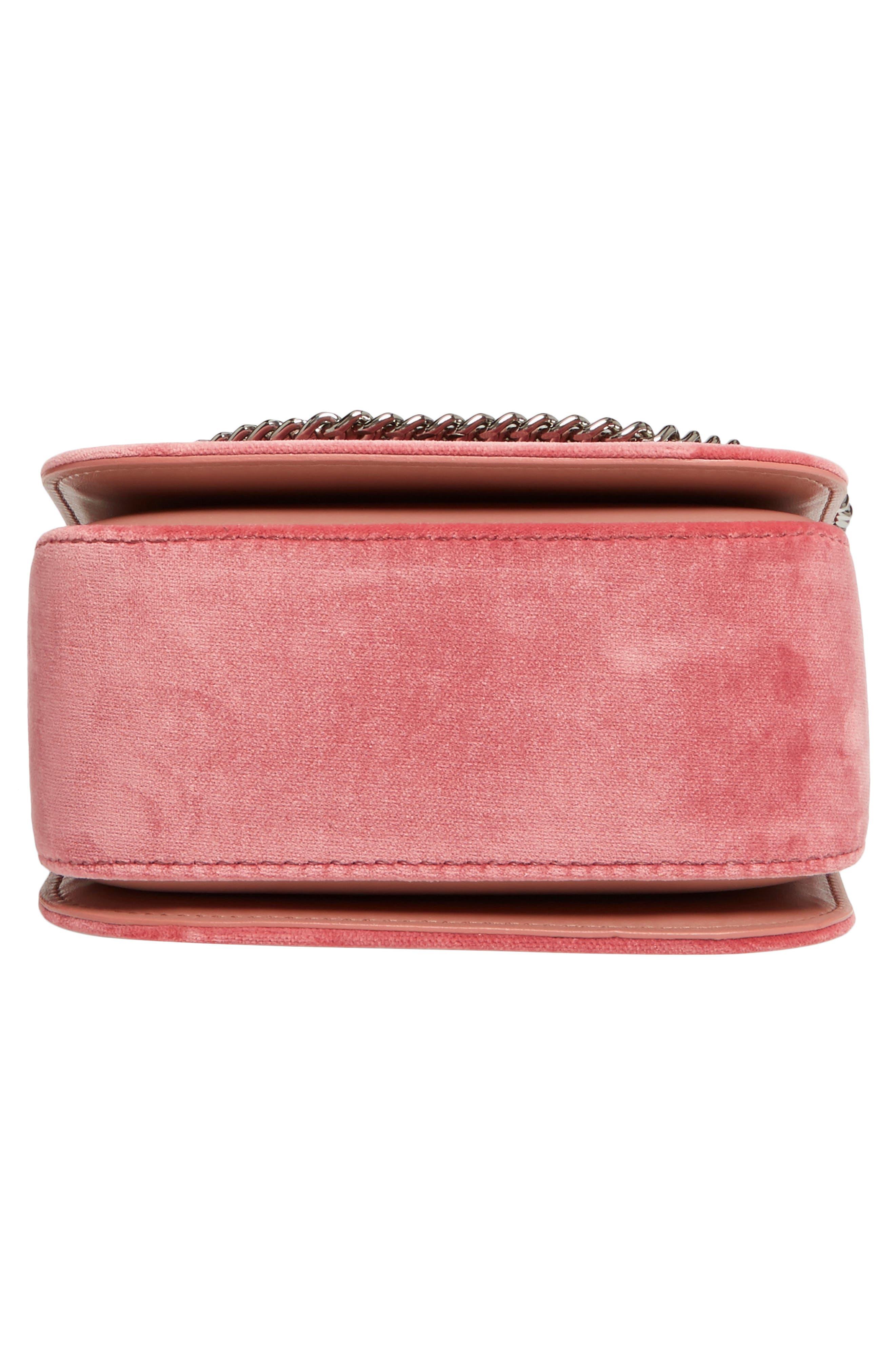 Mini Falabella Box Velvet Shoulder Bag,                             Alternate thumbnail 6, color,                             640