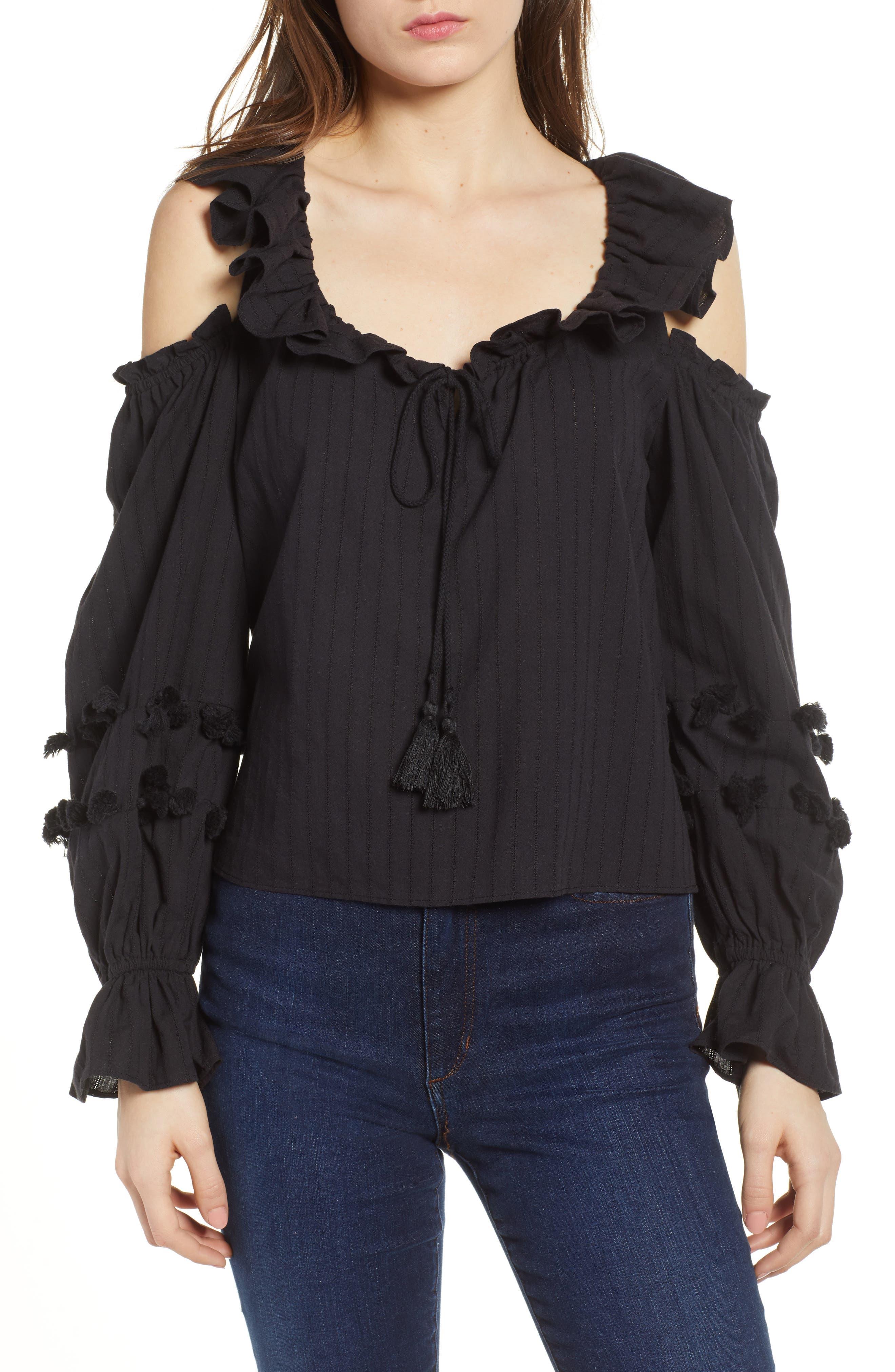 Pippa Cold Shoulder Top,                         Main,                         color, 001