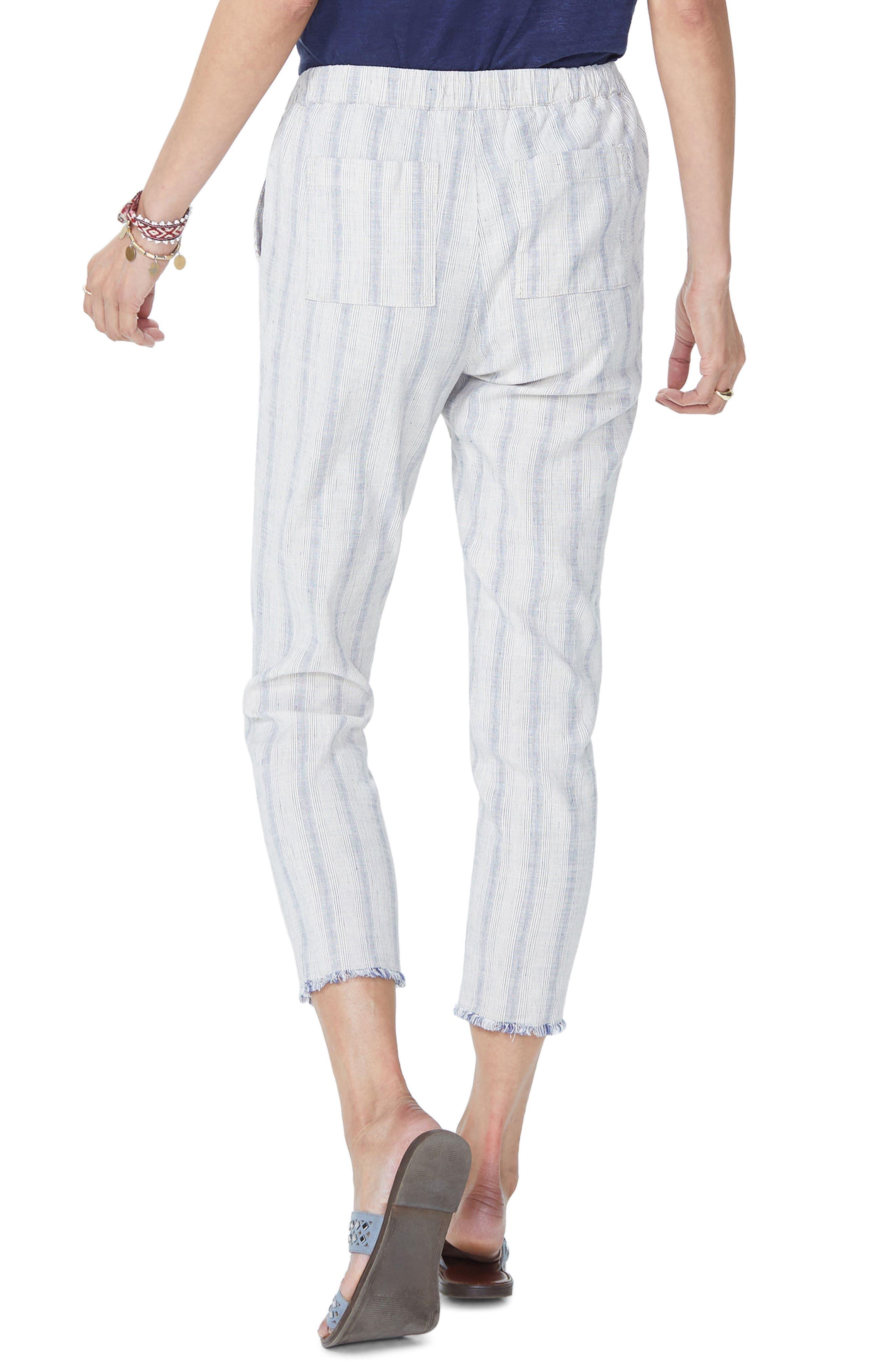 Hidden Drawstring Stripe Crop Pants,                             Alternate thumbnail 4, color,