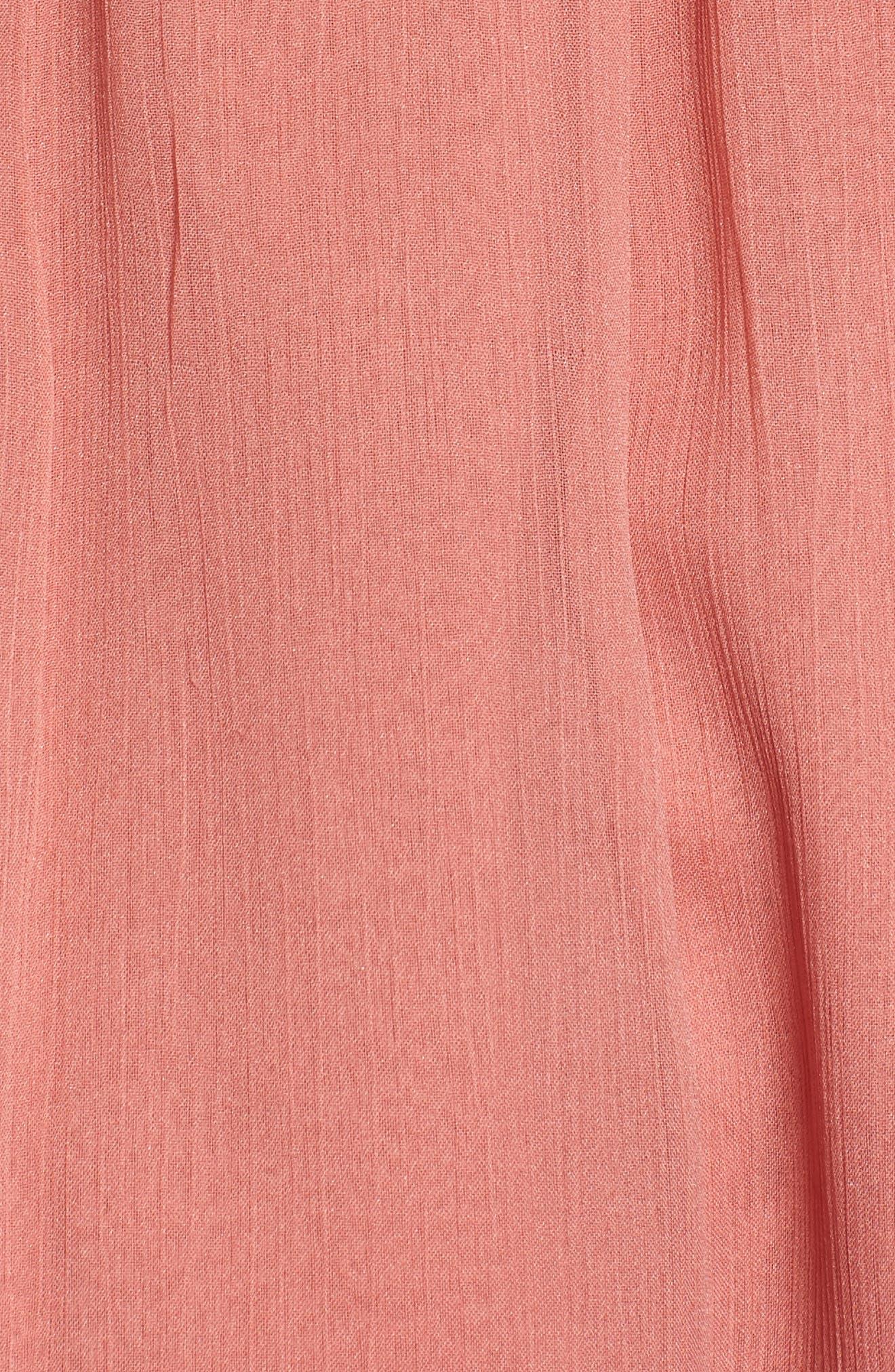 Blurred Landscape Dress,                             Alternate thumbnail 5, color,                             WITHERED ROSE