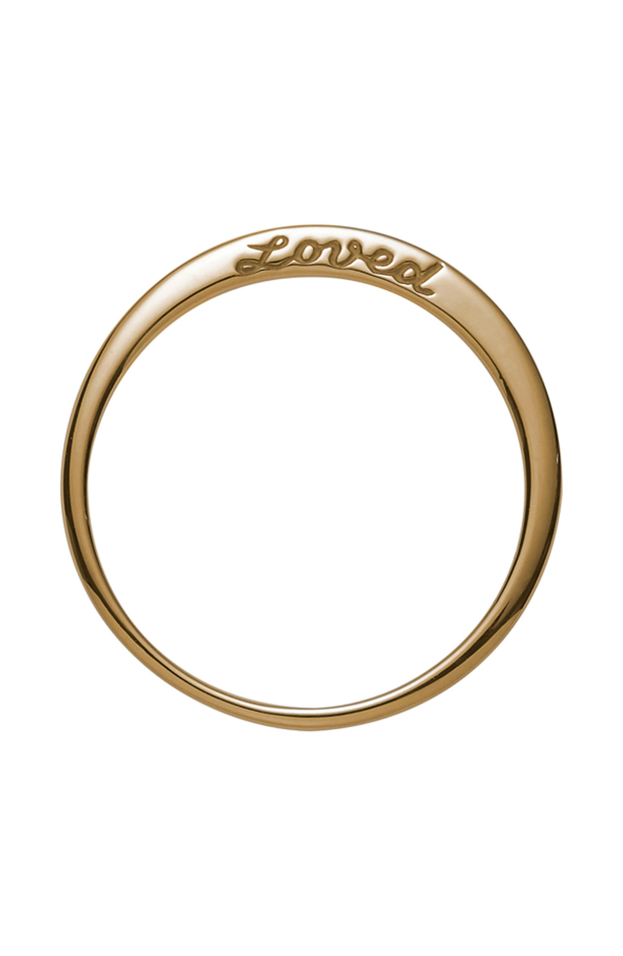 Loved Side Script Ring,                         Main,                         color, YELLOW GOLD